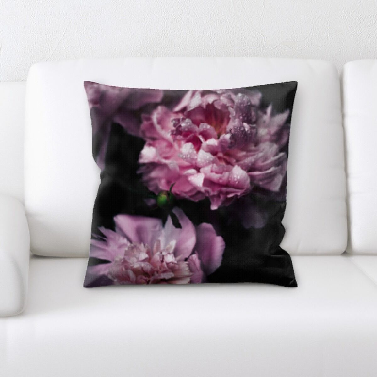 Flowers with Background Throw Pillow