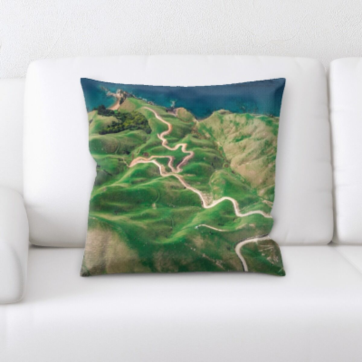 Flat Aerial Shots (3) Throw Pillow