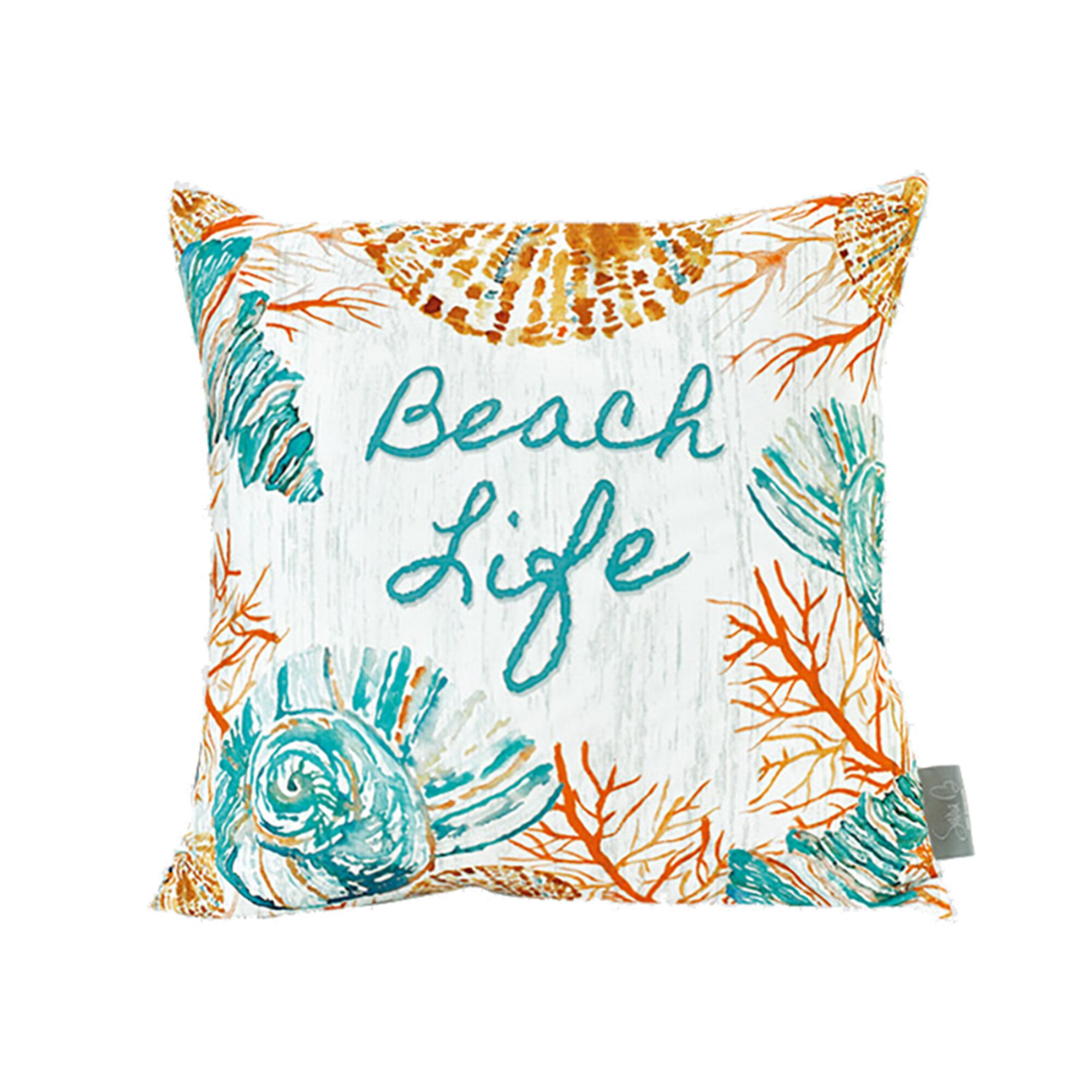 Claudelle Beach Life Cotton Throw Pillow
