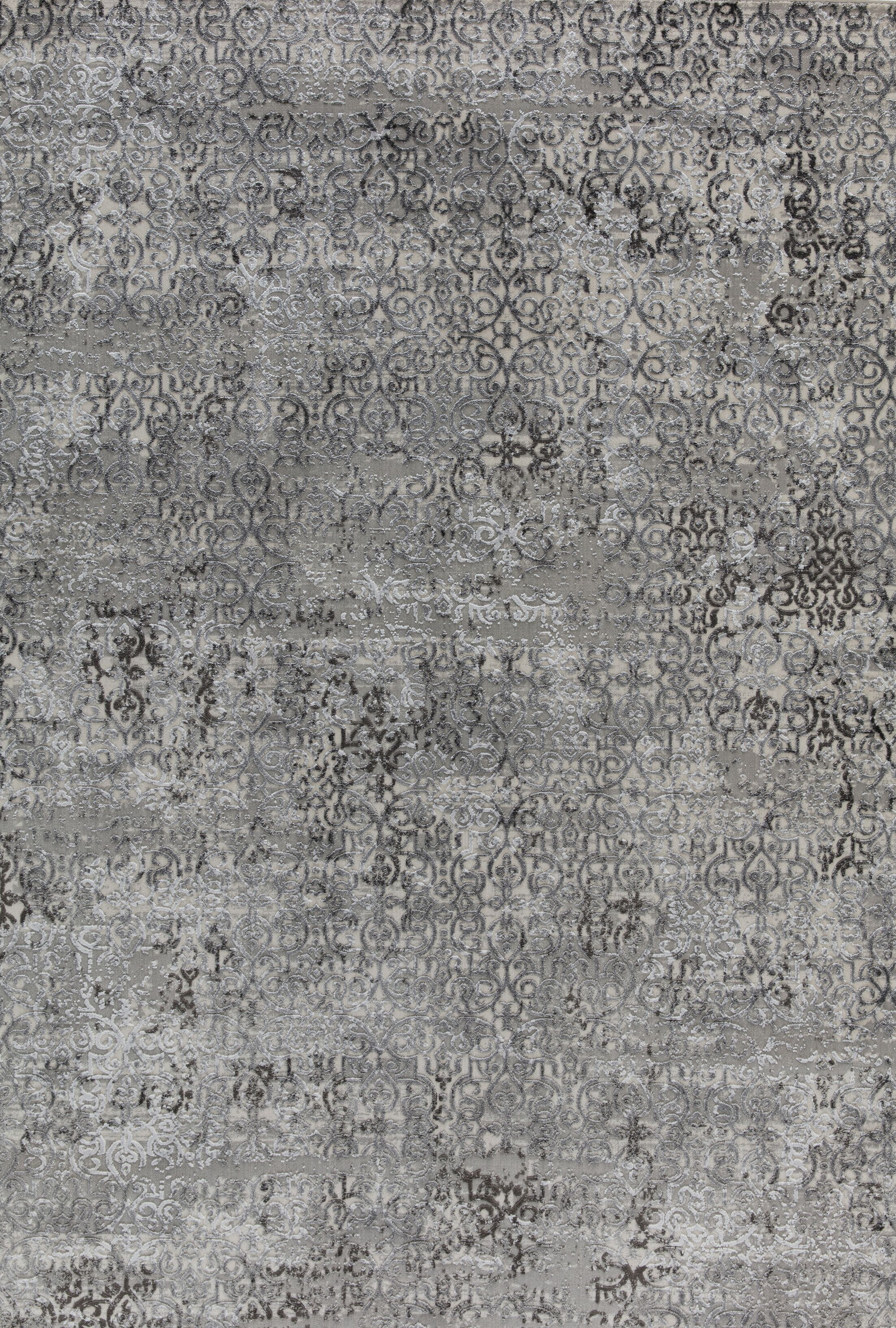 Rearick Gray/Taupe Area Rug Rug Size: Rectangle 6'7