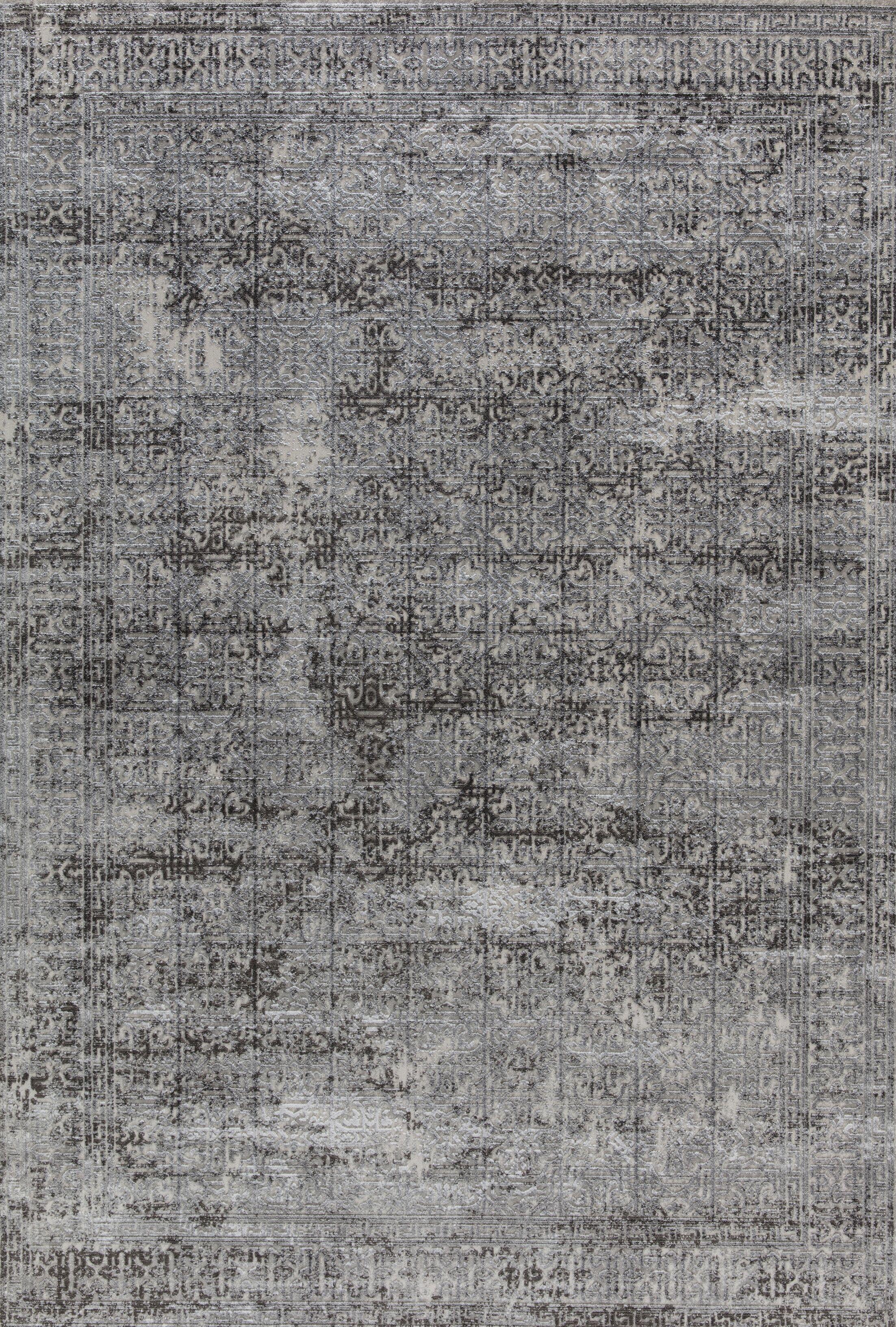 Rearick Light Gray Area Rug Rug Size: Rectangle 3'11