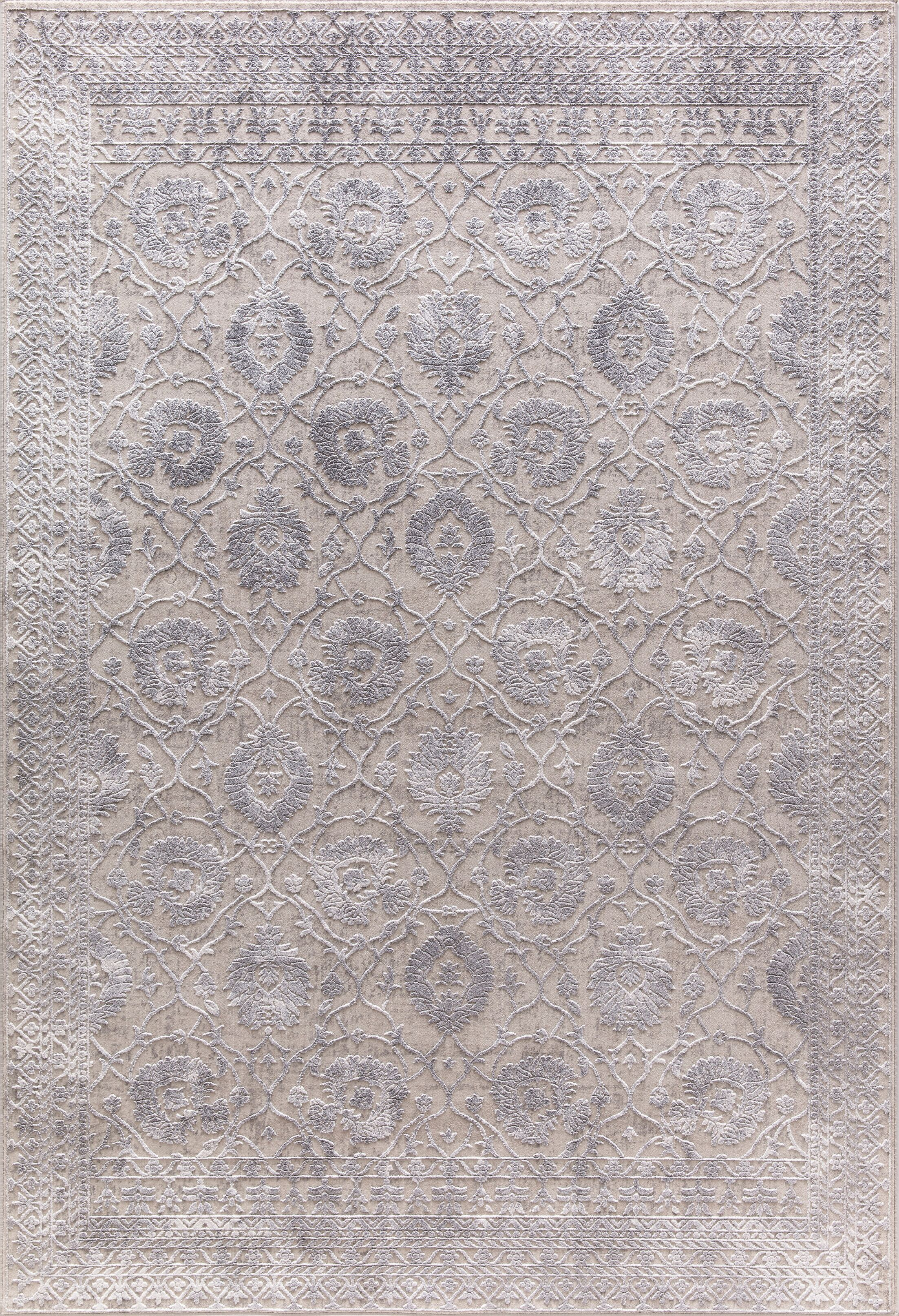 Rearick Gray/Silver Area Rug Rug Size: Rectangle 3'11
