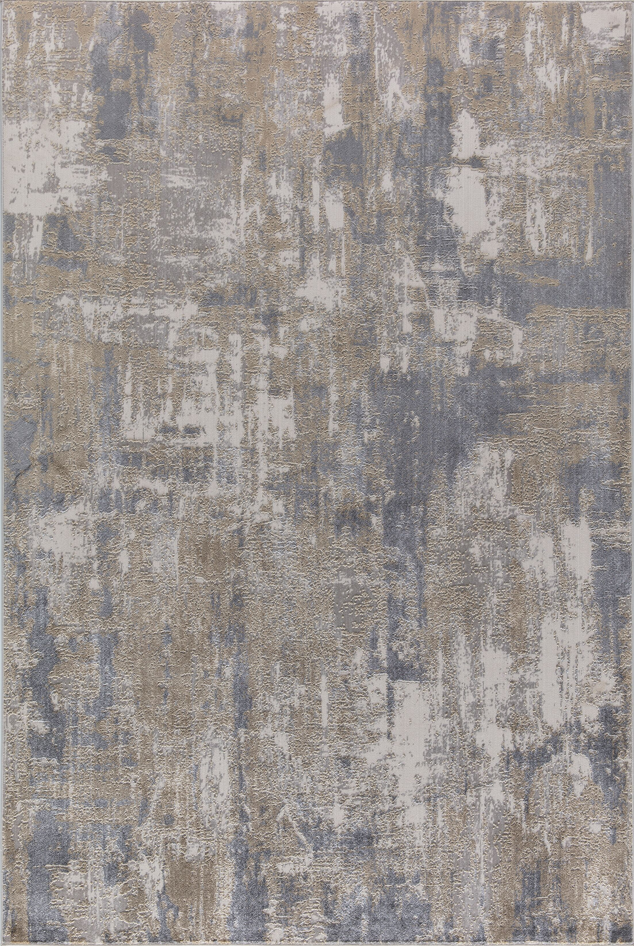 Rearick Gray/Beige Area Rug Rug Size: Rectangle 6'7