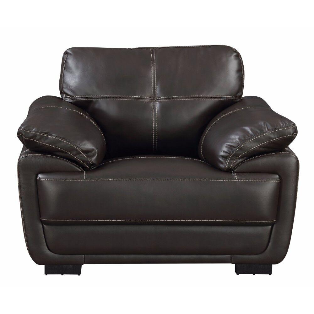 Kistler Upholstered Armchair Upholstery: Brown
