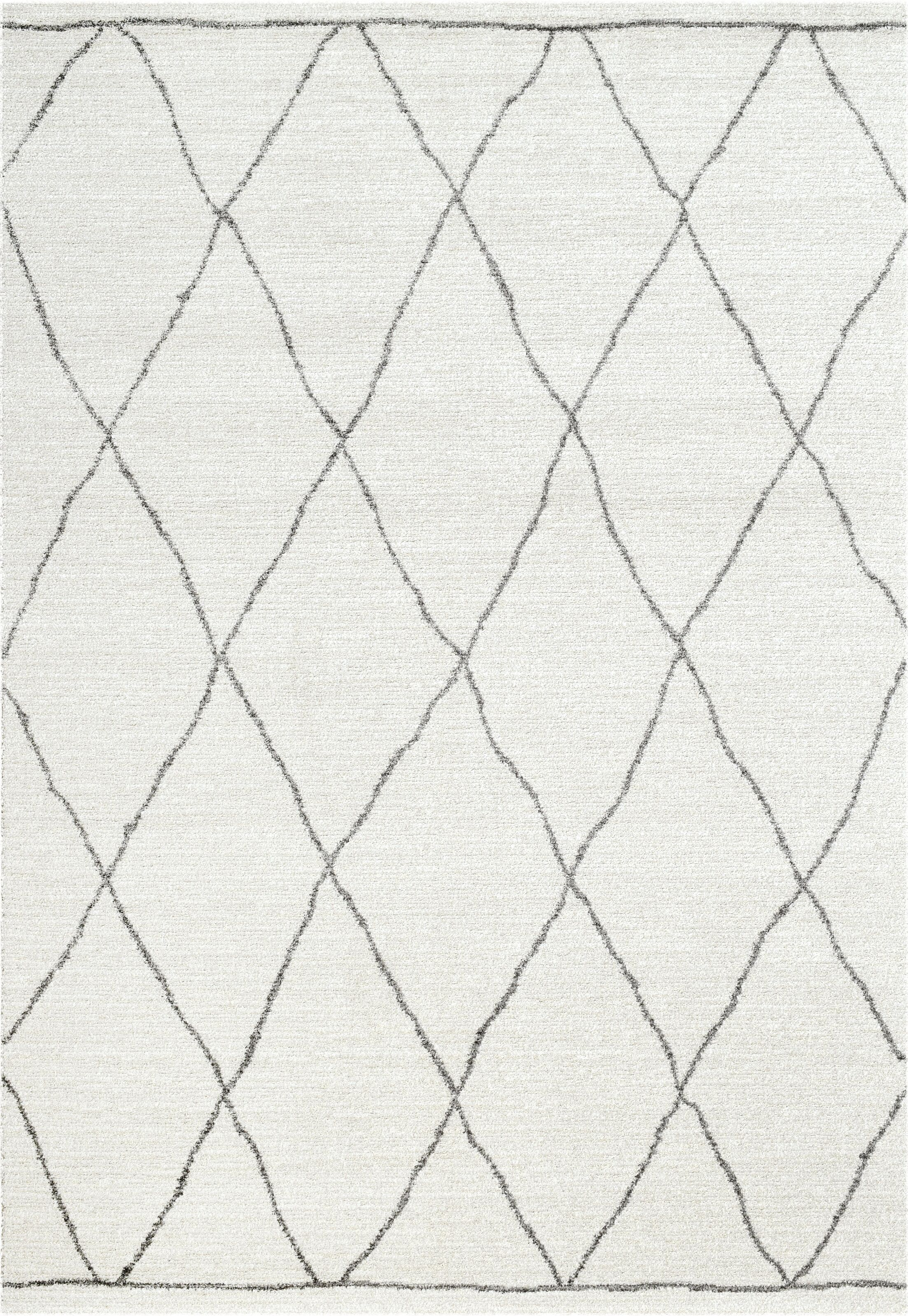 Pisano Ivory/Gray Area Rug Rug Size: Rectangle 6'7