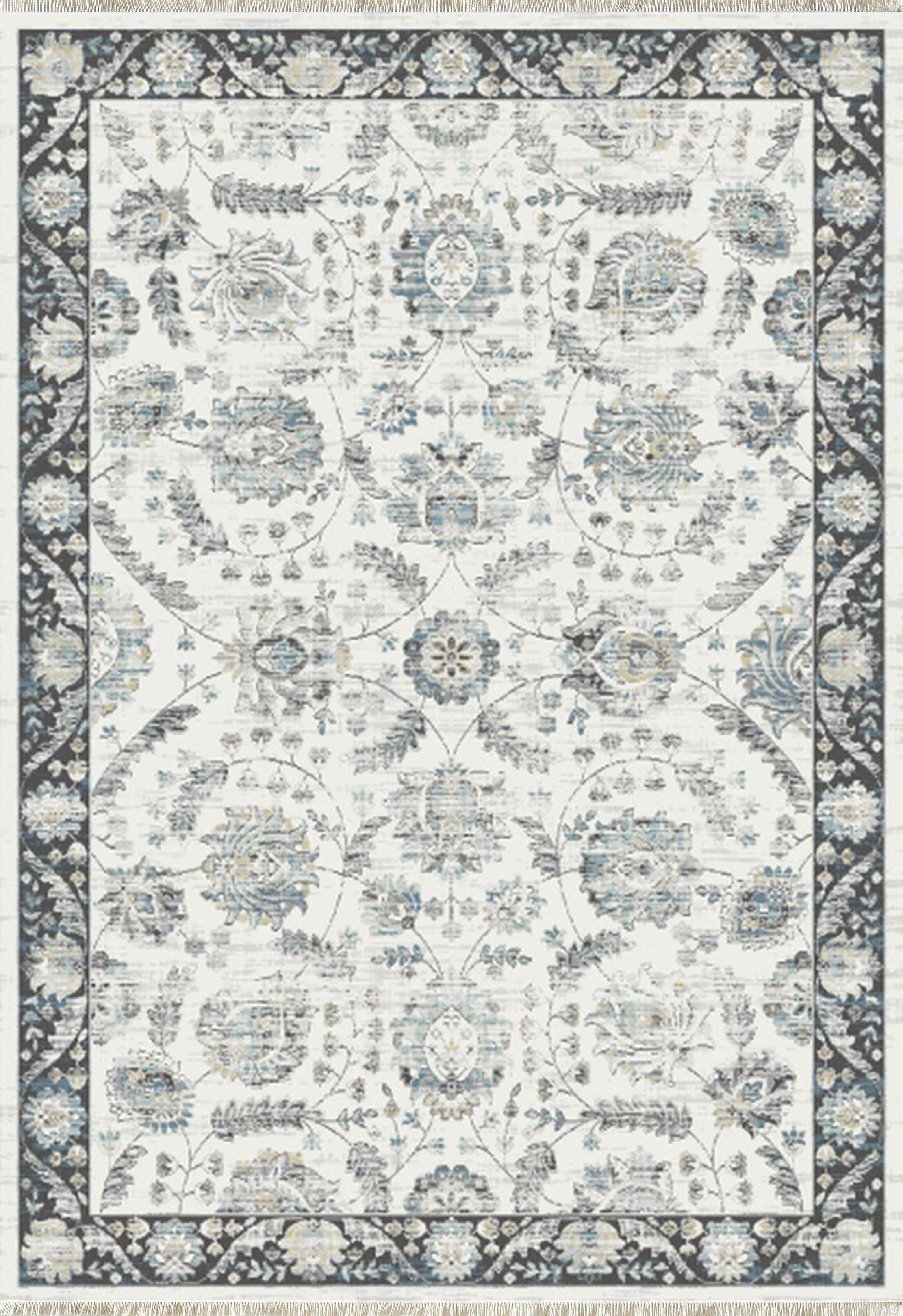 Whorton Light Gray Area Rug Rug Size: Rectangle 9'2