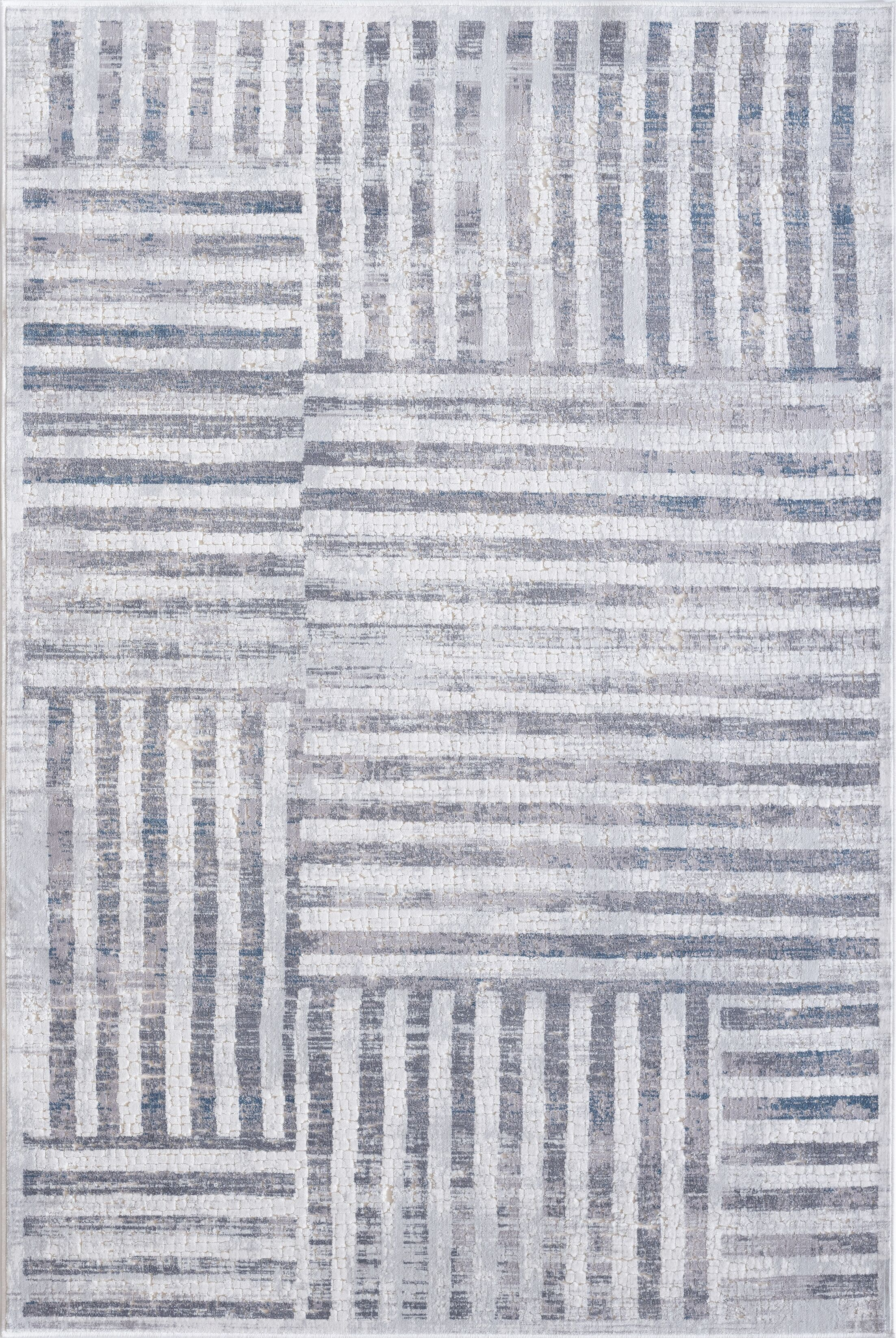 Barrowman Cream/Gray Area Rug Rug Size: Runner 2'2