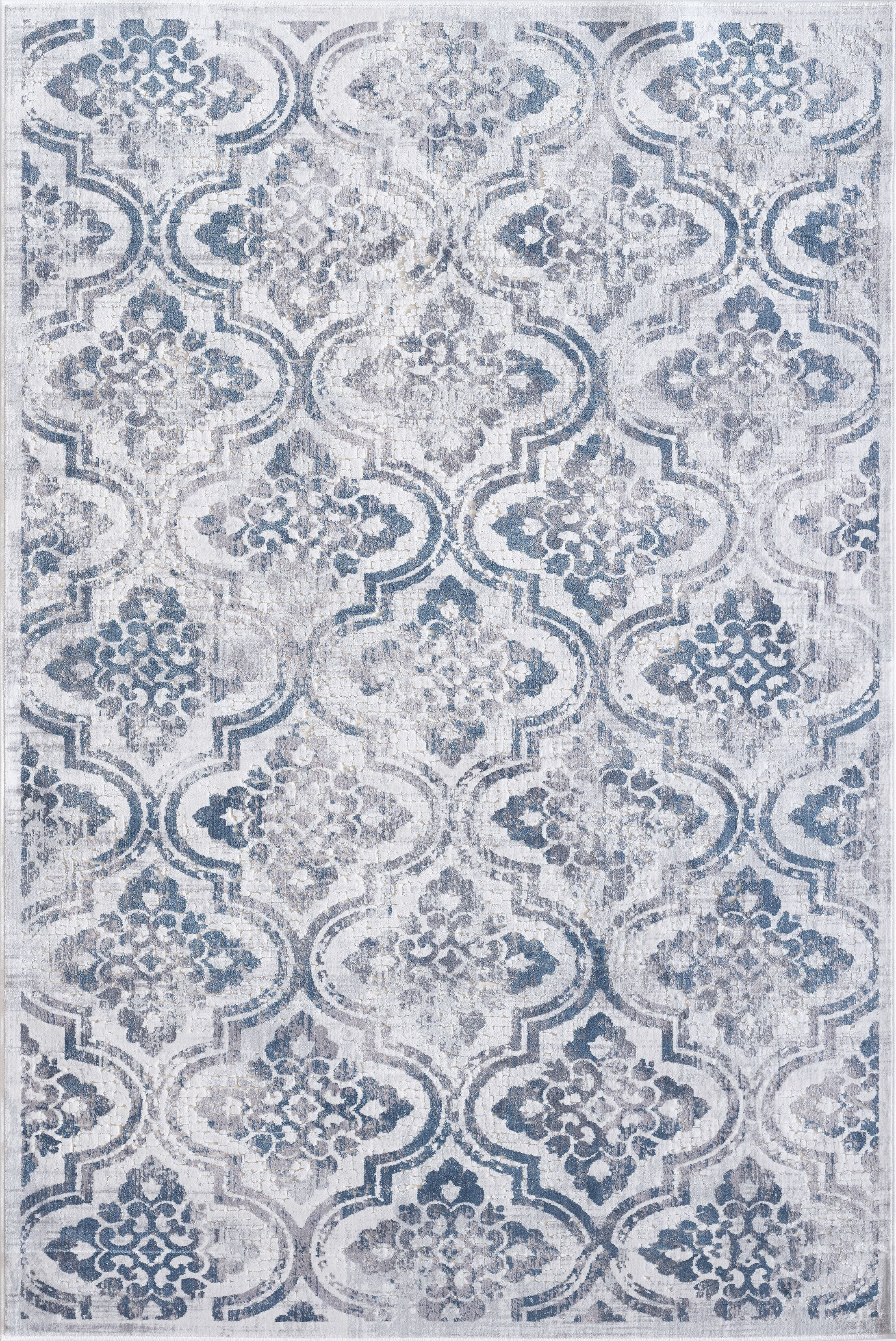 Sparta Gray/Blue Area Rug Rug Size: Rectangle 5'3