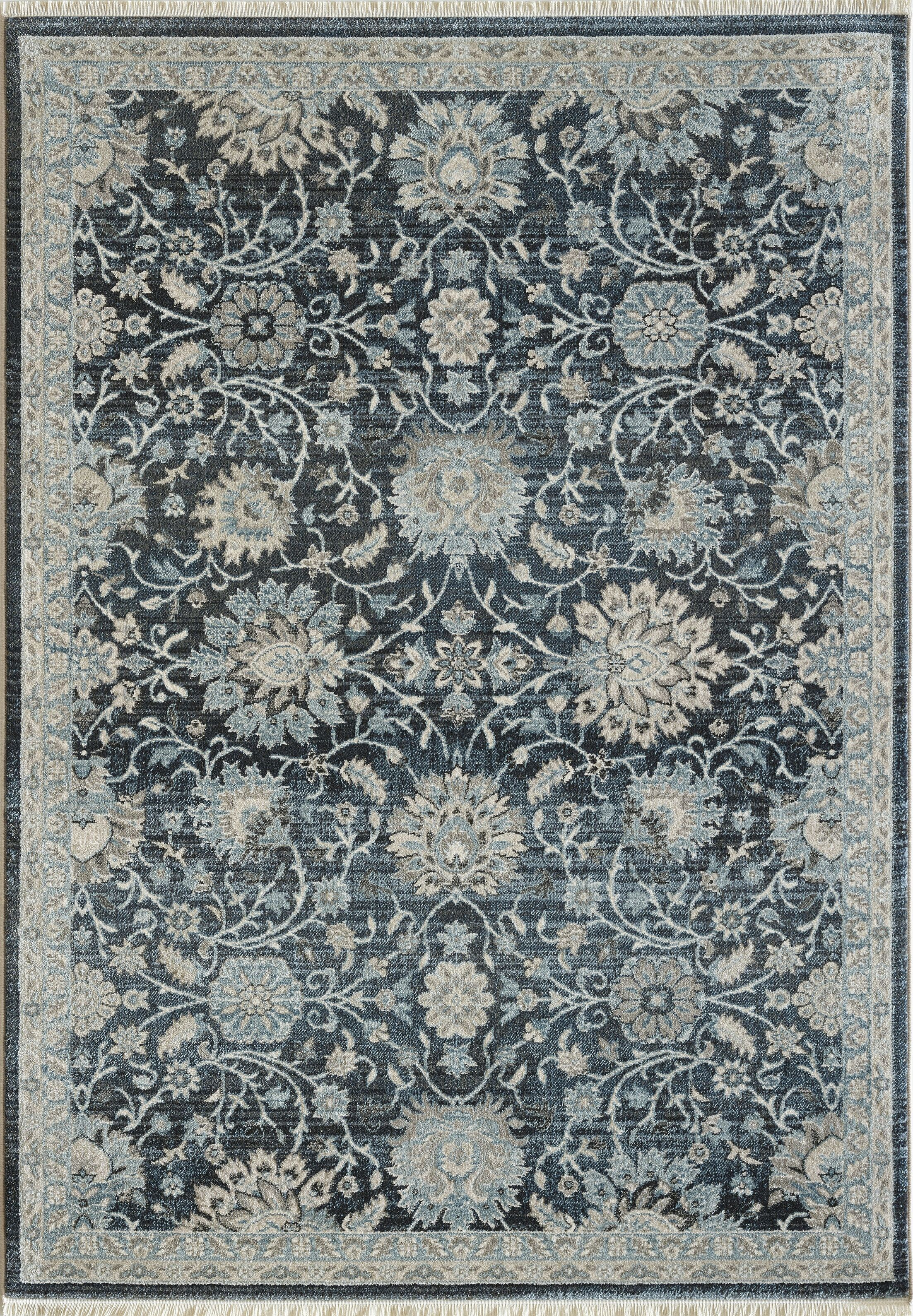 Omarion Blue Area Rug Rug Size: Rectangle 6'7