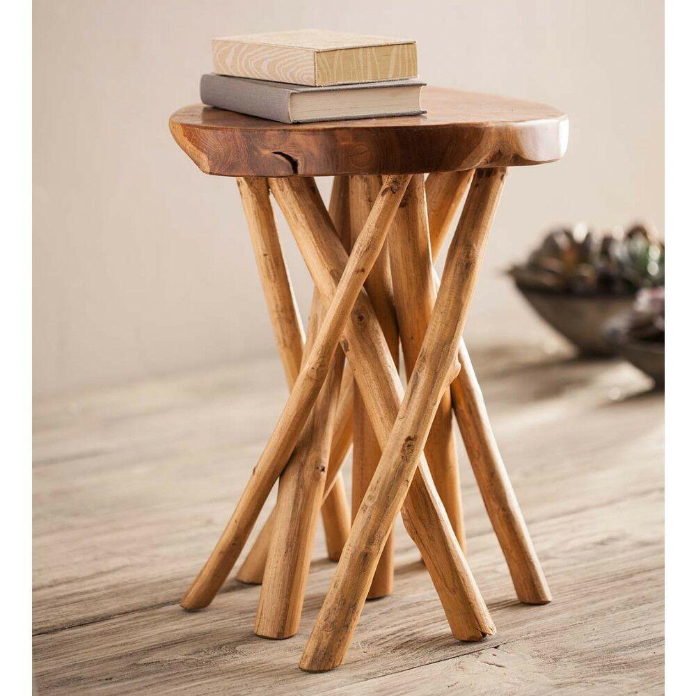Piland Tangled Teak End Table