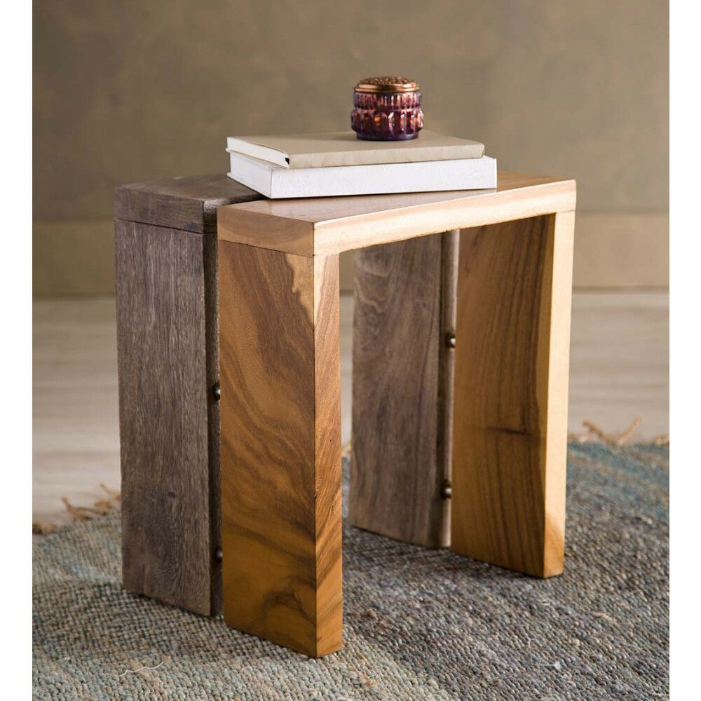 Pifer Dual Monkeypod Wood End Table