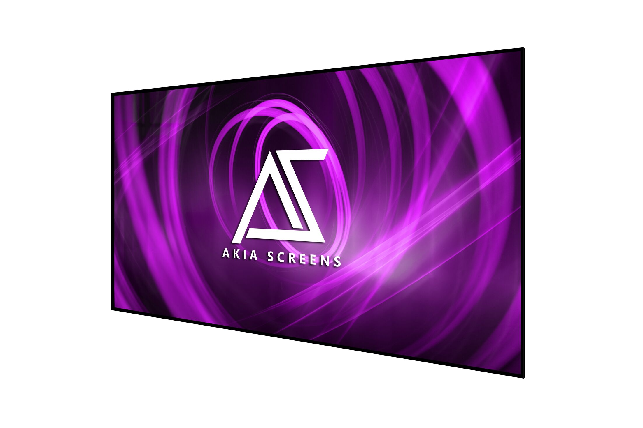 Akia Edge Free White Fixed Frame Projector Screen Viewing Area: 61.3