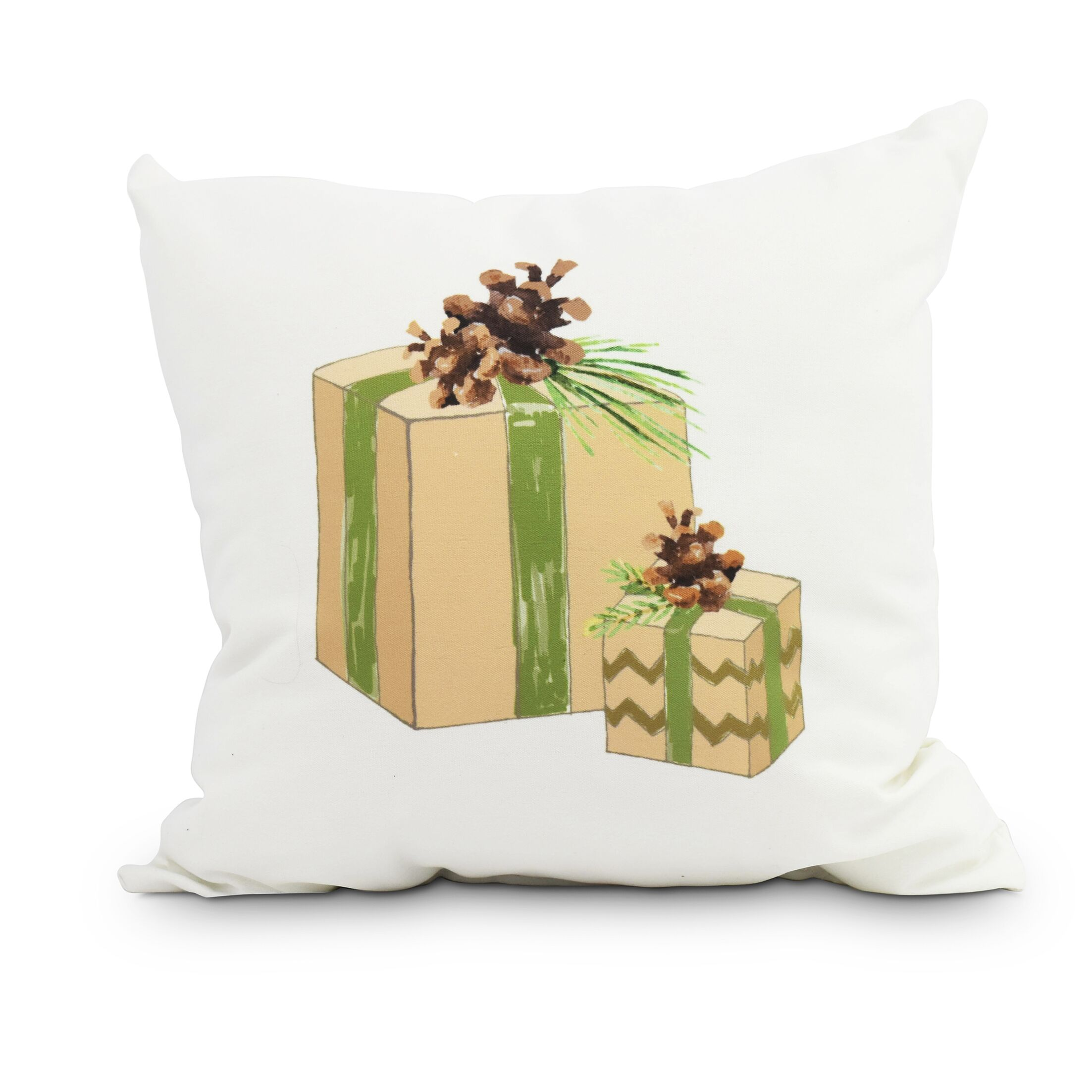Maselli Nature's Gift Holiday Throw Pillow Size: 18