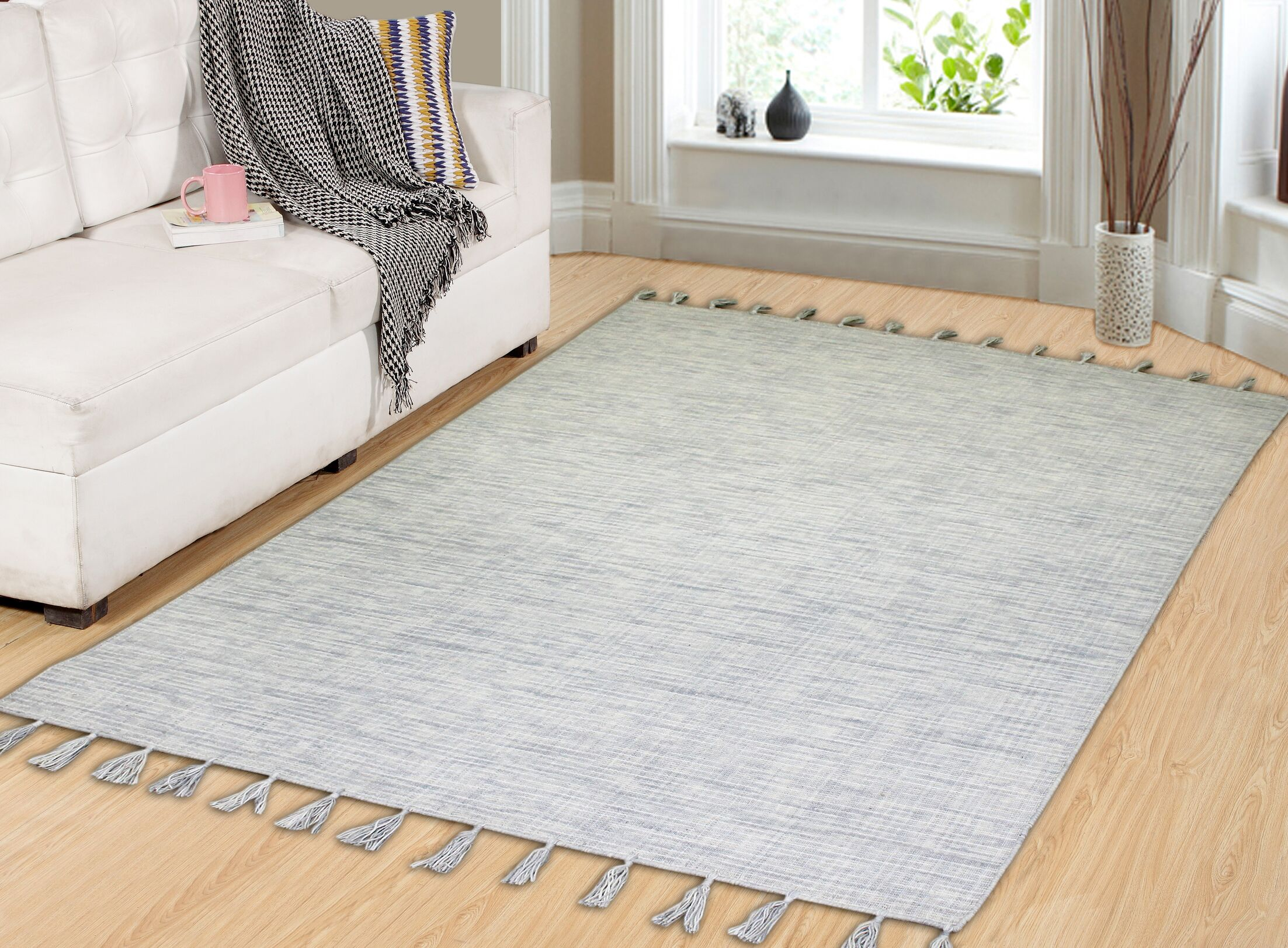 Willey Hand-Woven Wool Ivory Area Rug Rug Size: Runner 2' x 7'6
