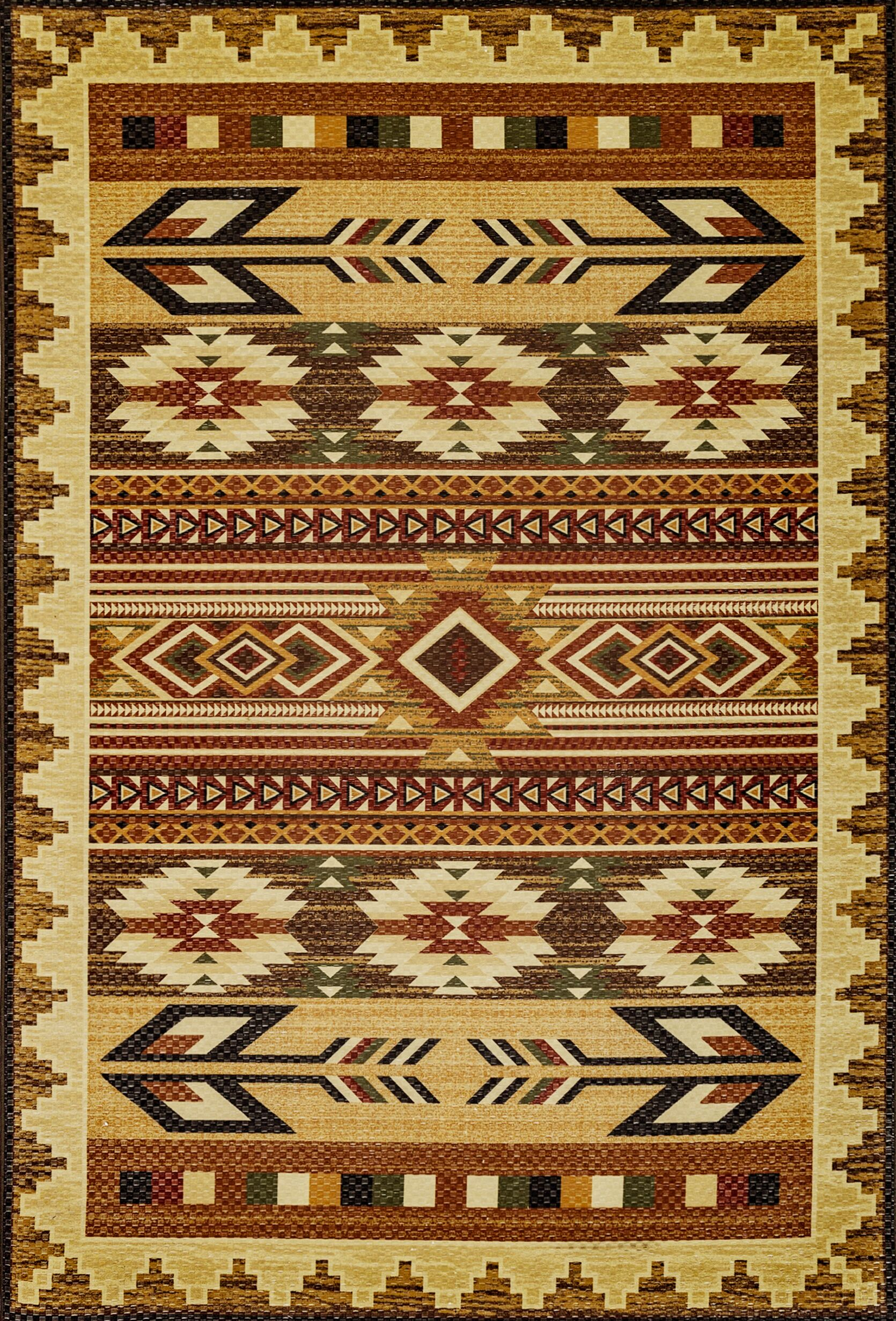 Wallin Gold/Brown Area Rug Rug Size: Rectangle 7'10