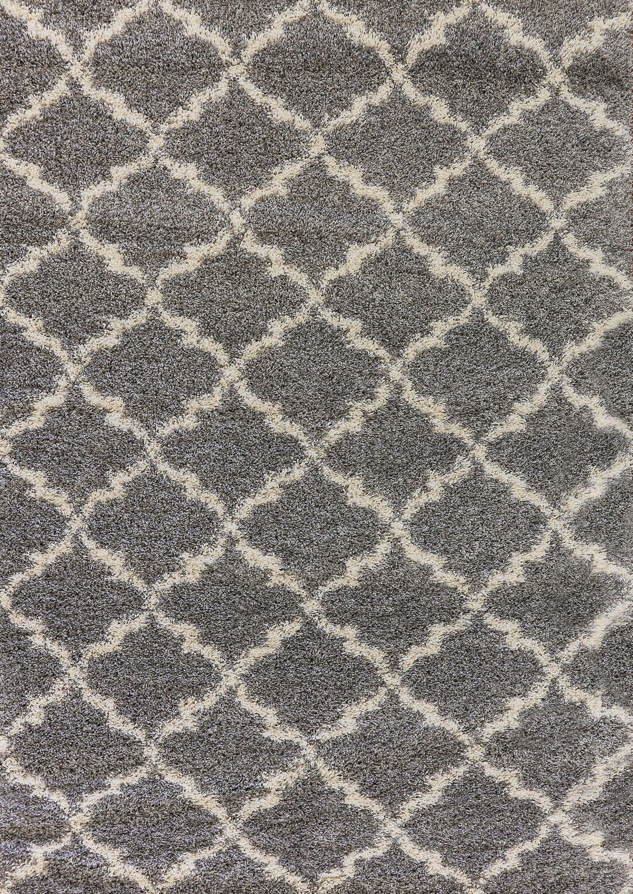 Rieder Gray/Cream Area Rug Rug Size: Rectangle 9'2
