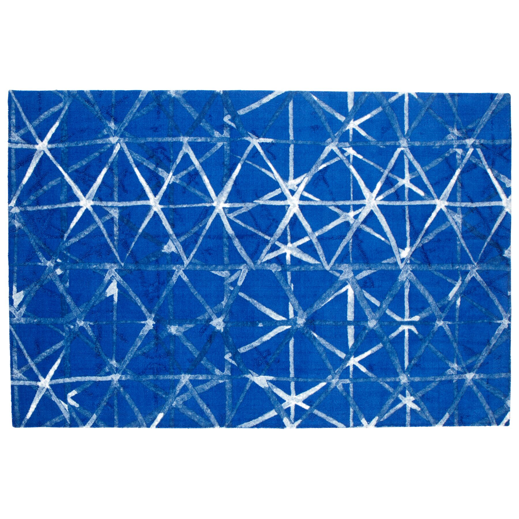 Shibori Weave Blue Area Rug Rug Size: Rectangle 6' x 9'