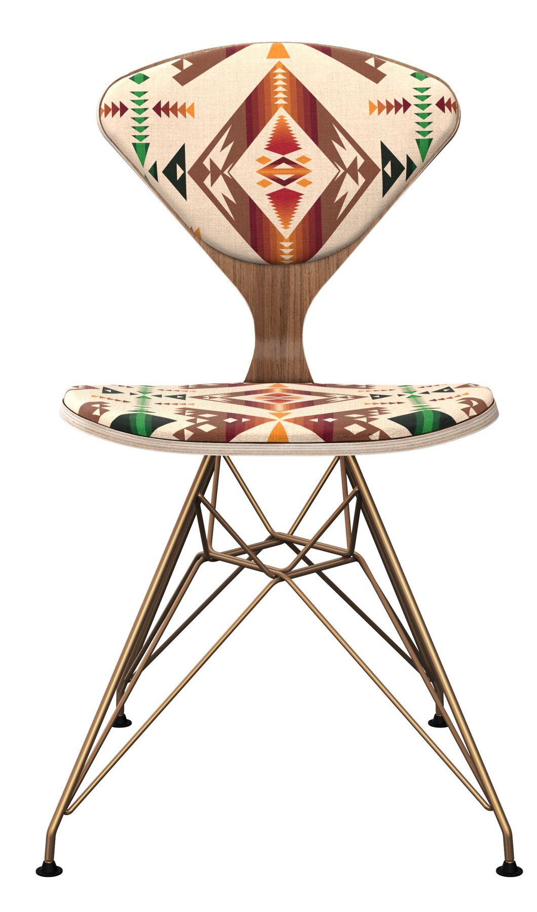 Blarwood Dining Chair Frame Color: Walnut/Brass