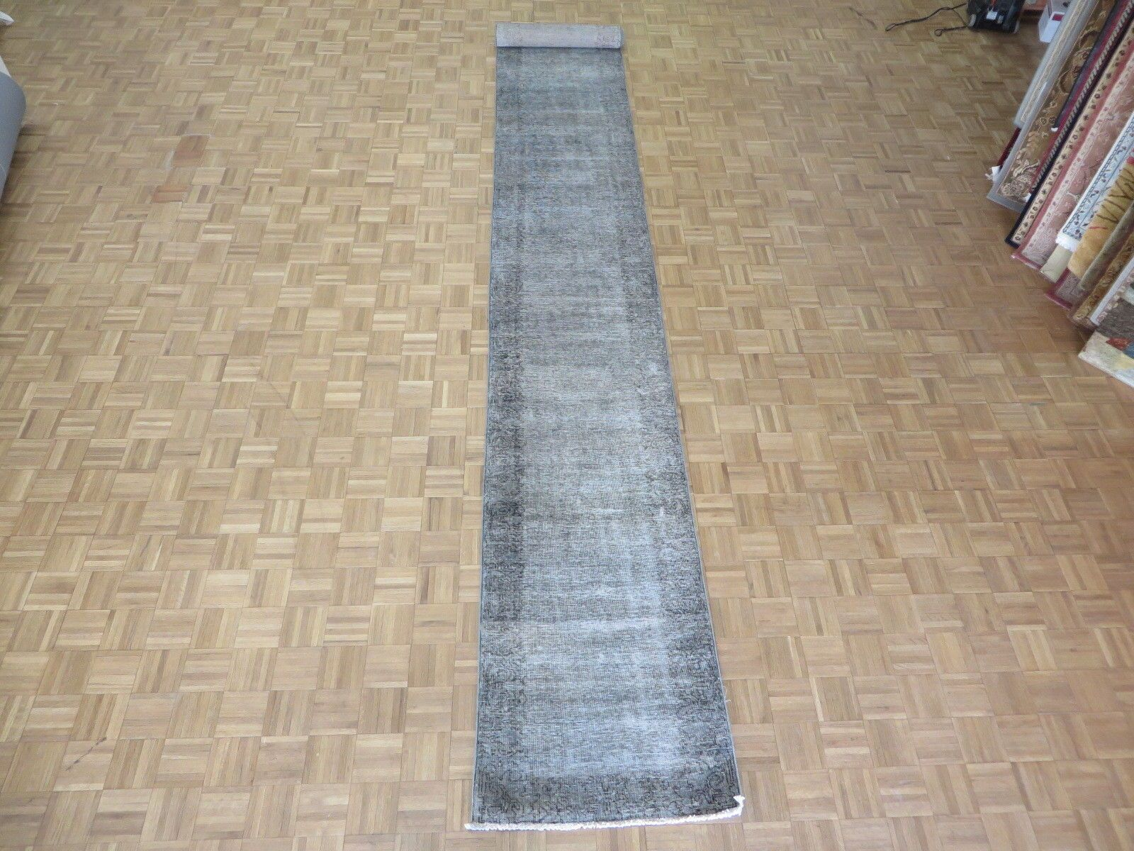 One-of-a-Kind Edinburgh Overdyed Persian Hand-Knotted Wool Gray Area Rug