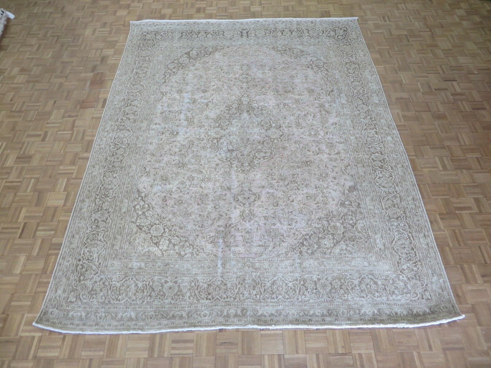 One-of-a-Kind Edinburgh Over-dyed Persian Hand-Knotted Wool Brown Area Rug