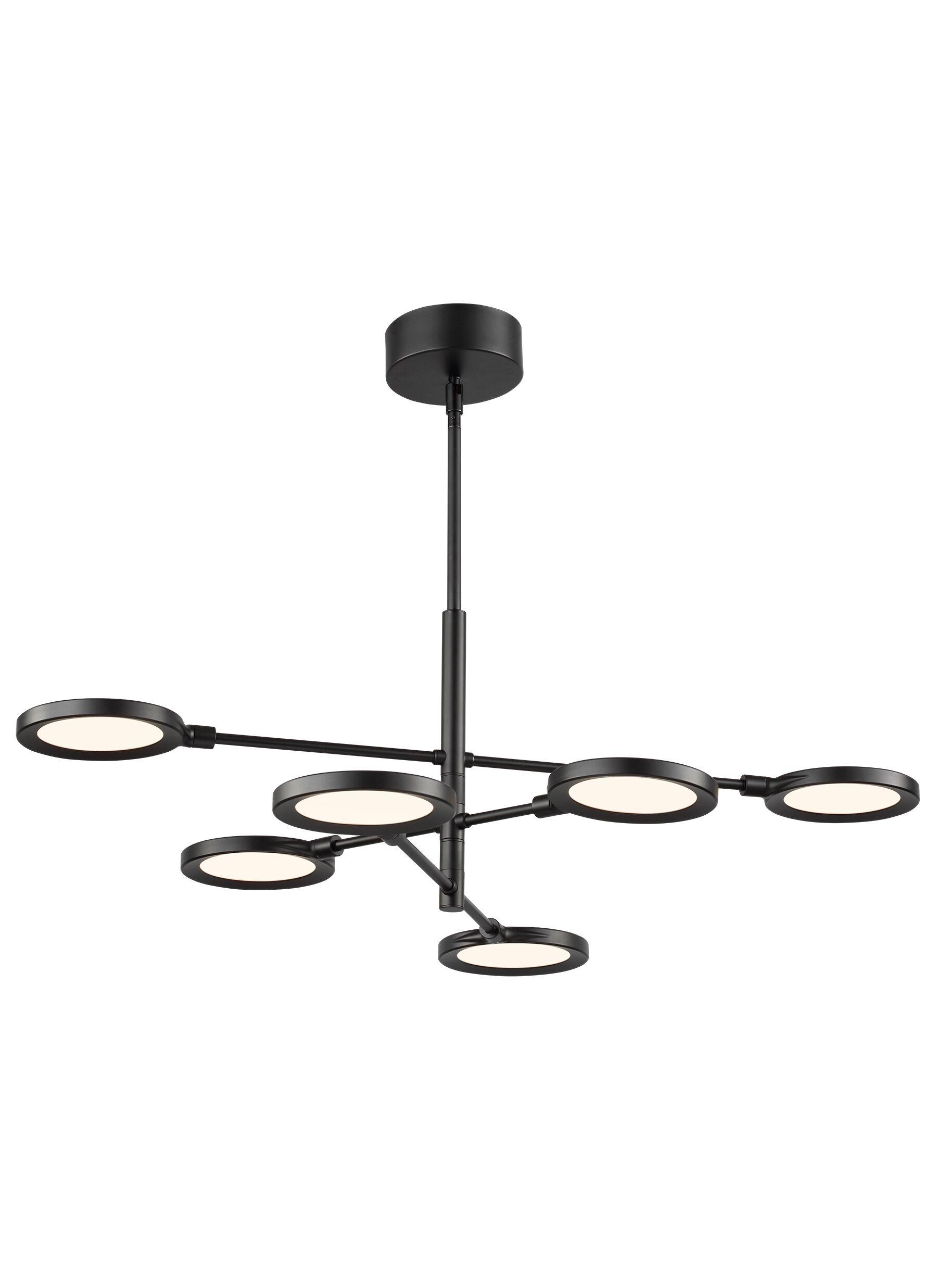 Kentwood 6-Light  LED  Chandelier Finish: Black