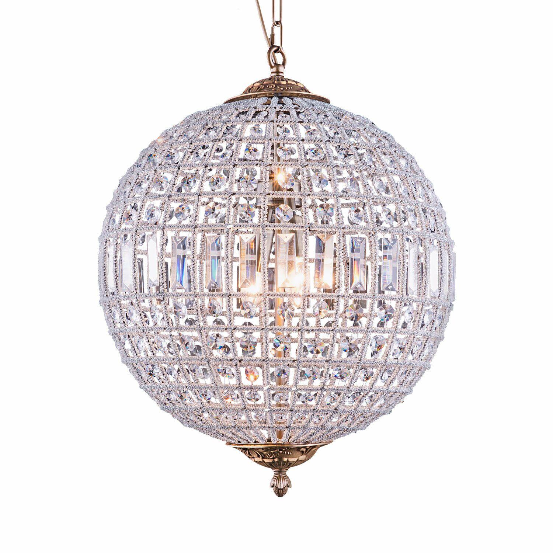 Franz 3-Light Crystal Chandelier Bulb Type: No Bulb