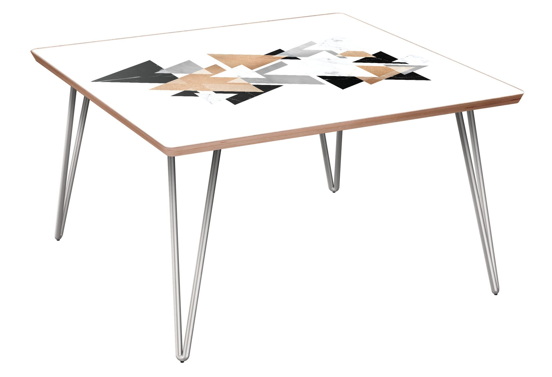 Worthville Coffee Table Table Base Color: Chrome, Table Top Color: Walnut