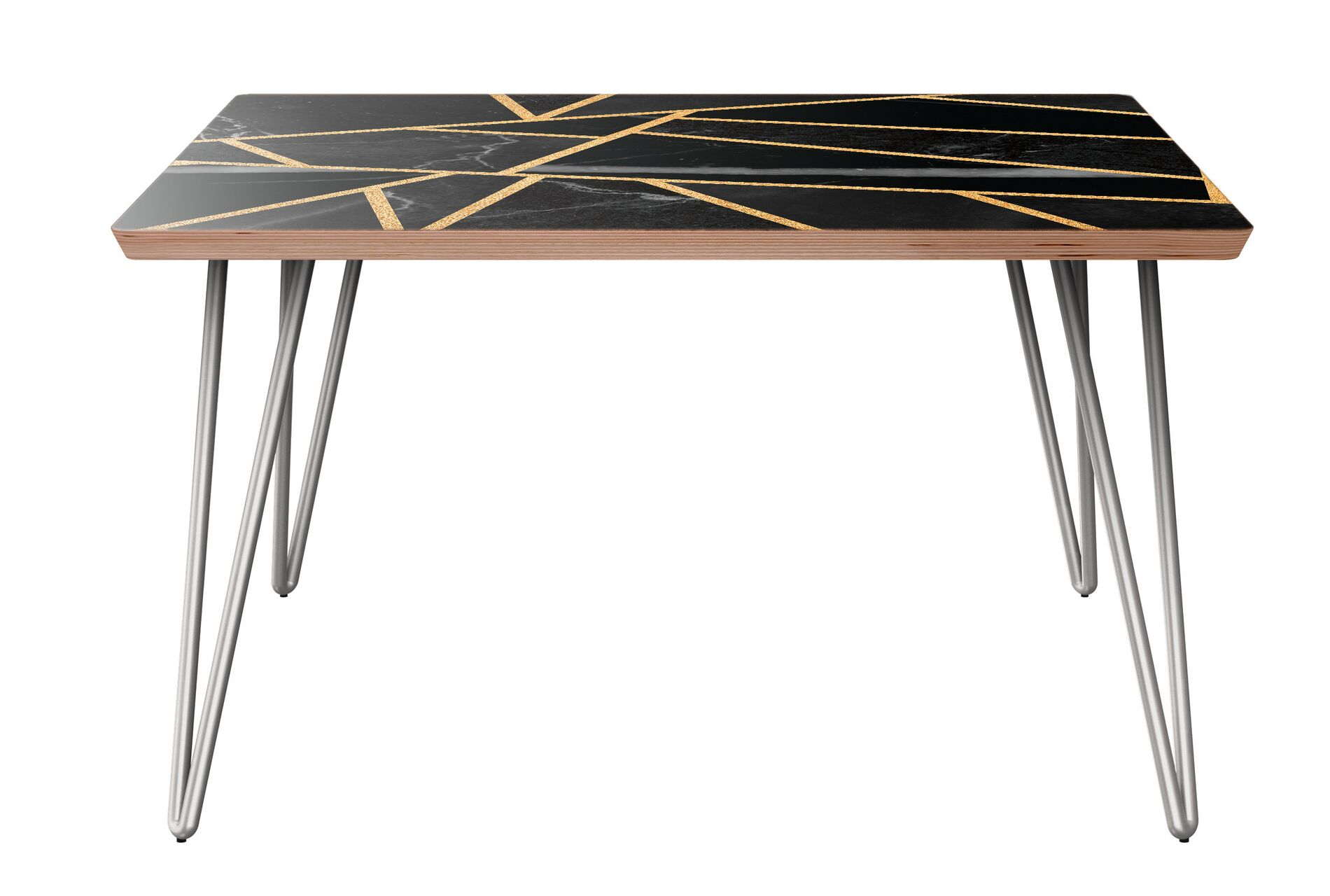 Roush Coffee Table Table Base Color: Chrome, Table Top Color: Walnut