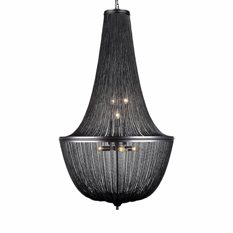 Lininger 10-Light Chandelier Finish: Gray