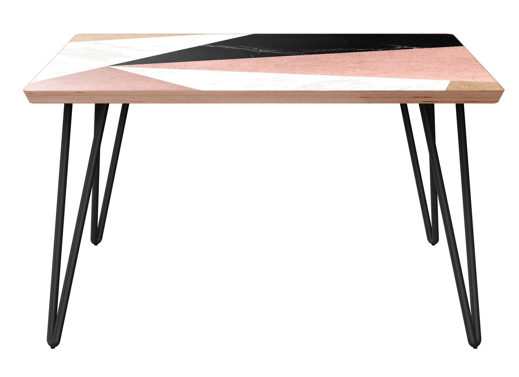 Royall Coffee Table Table Base Color: Black, Table Top Color: Walnut