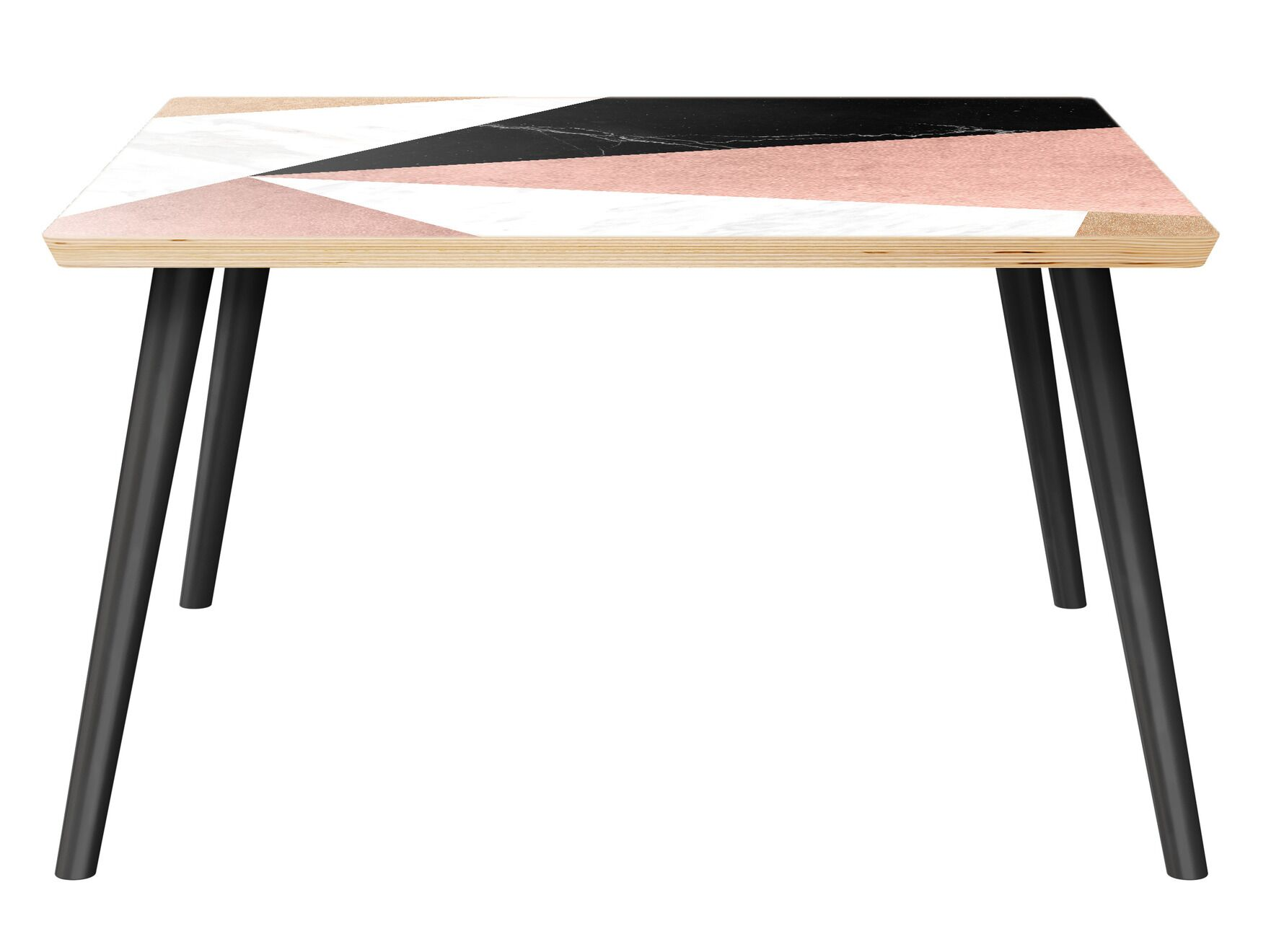 Roybal Coffee Table Table Top Color: Natural, Table Base Color: Black