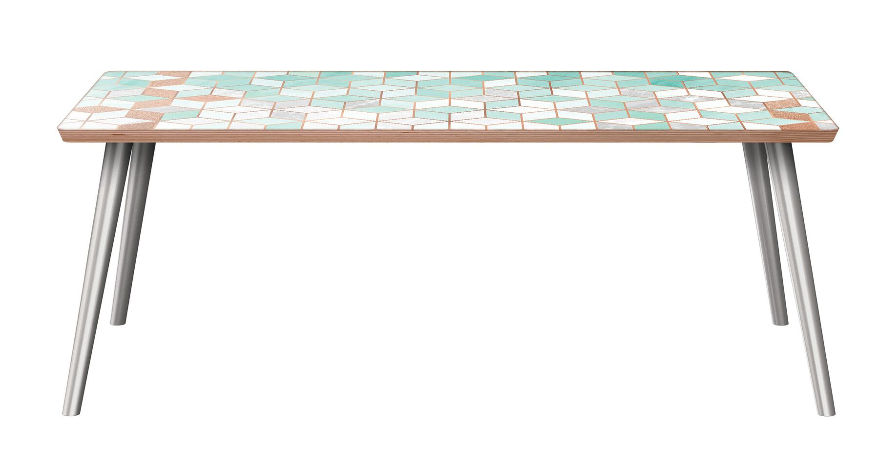 Clearview Coffee Table Table Base Color: Chrome, Table Top Color: Walnut