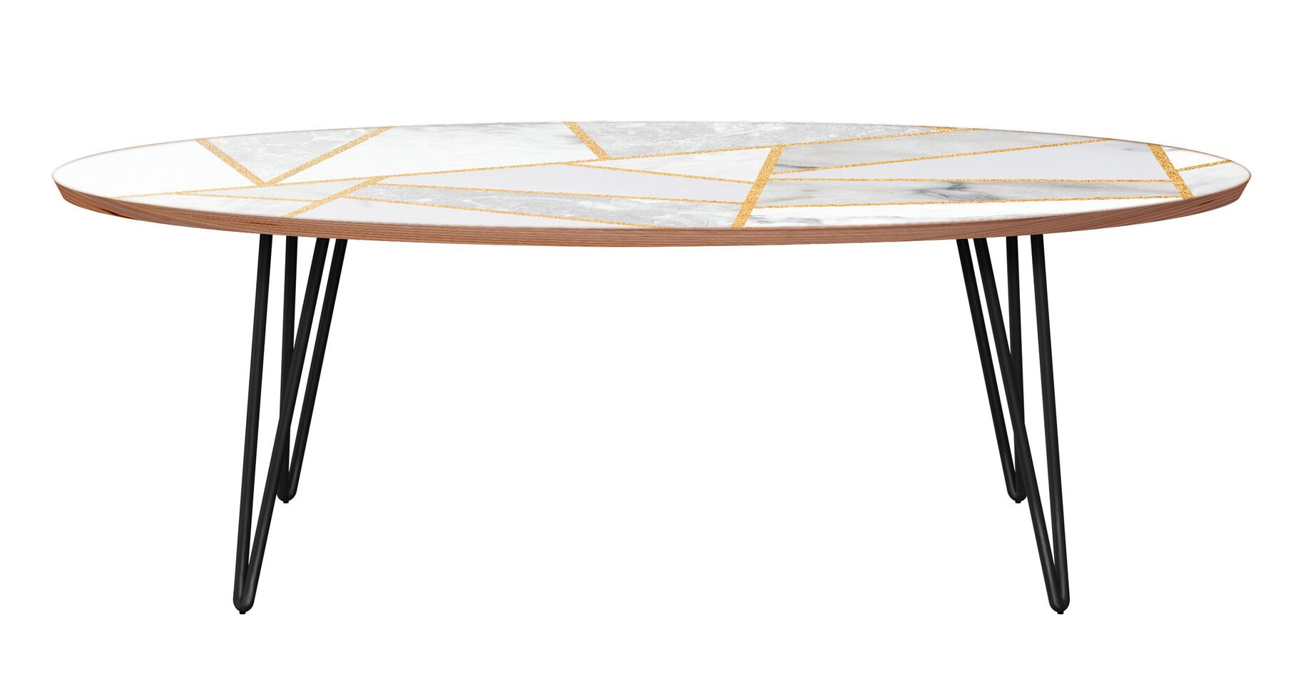 Mcgill Coffee Table Table Base Color: Black, Table Top Color: Walnut/White