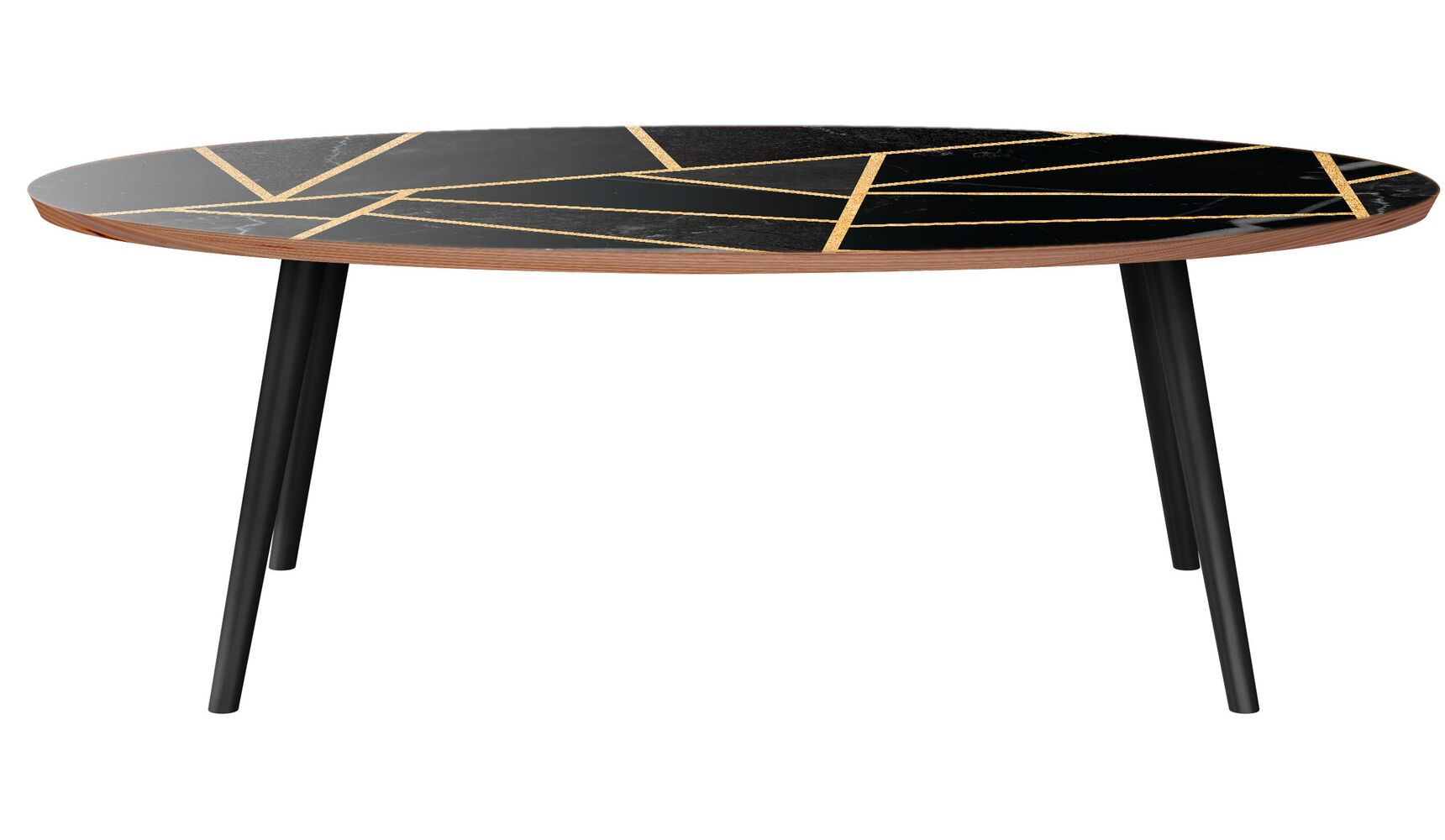 Mcginley Coffee Table Table Base Color: Black, Table Top Color: Walnut/Black