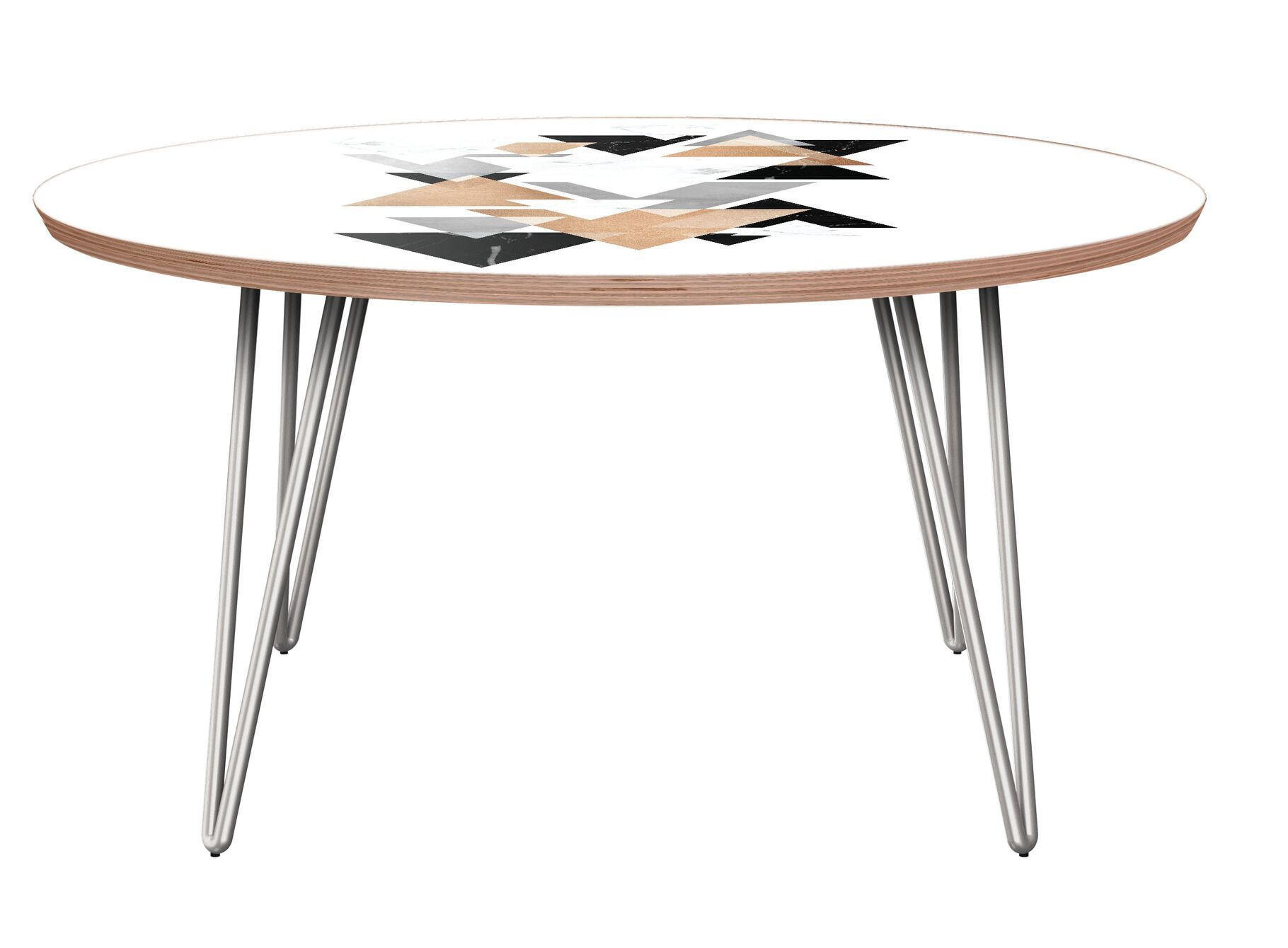 Laurens Coffee Table Table Base Color: Chrome, Table Top Color: Walnut