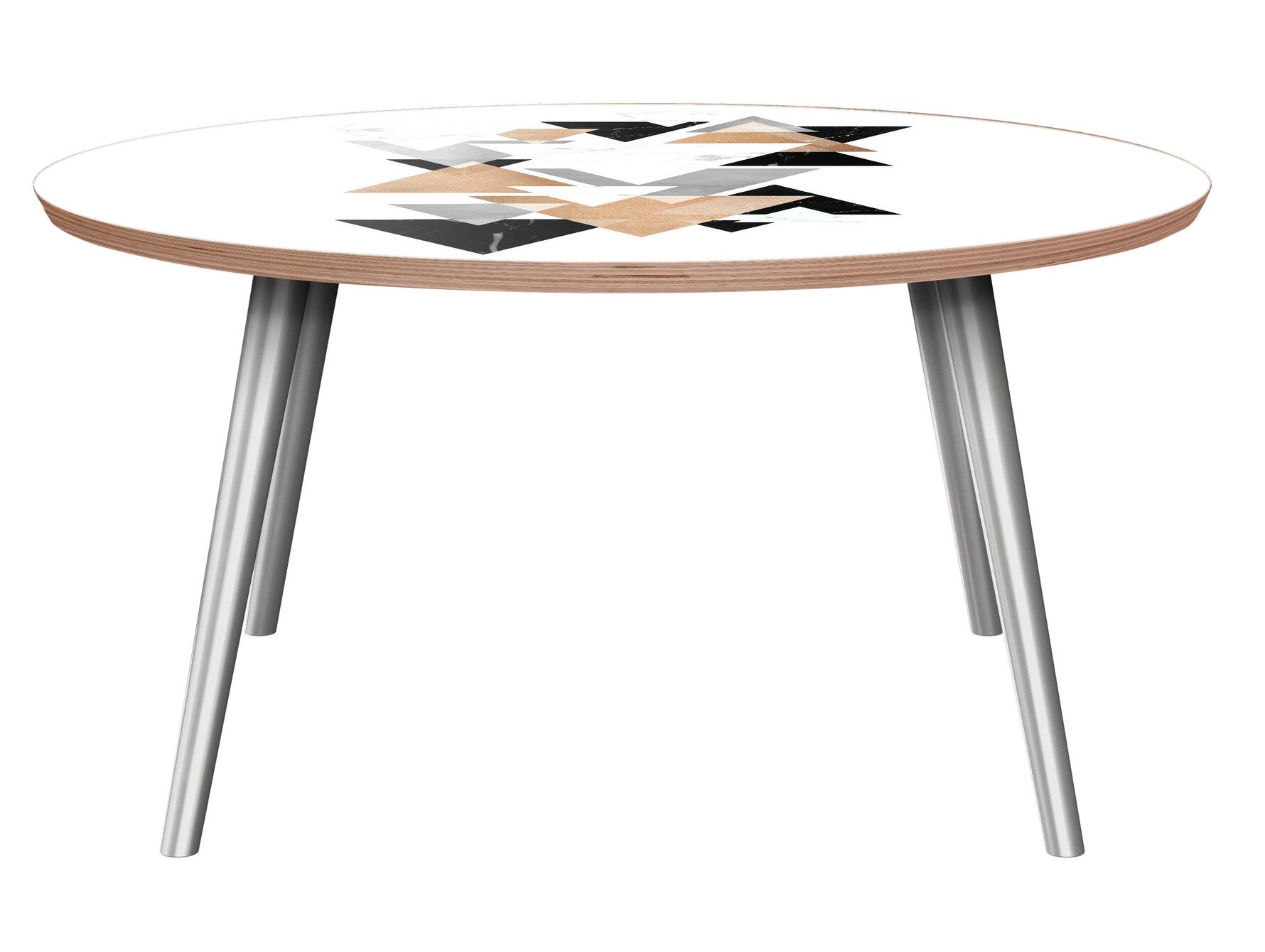 Petit Borendy Coffee Table Table Base Color: Chrome, Table Top Color: Walnut