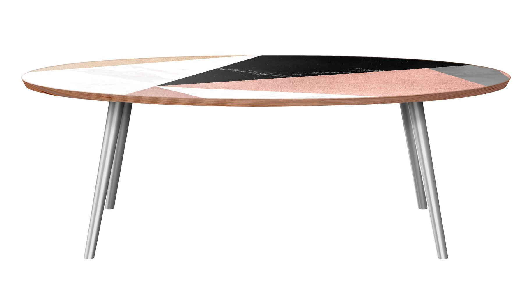 Twedt Coffee Table Table Base Color: Chrome, Table Top Color: Walnut