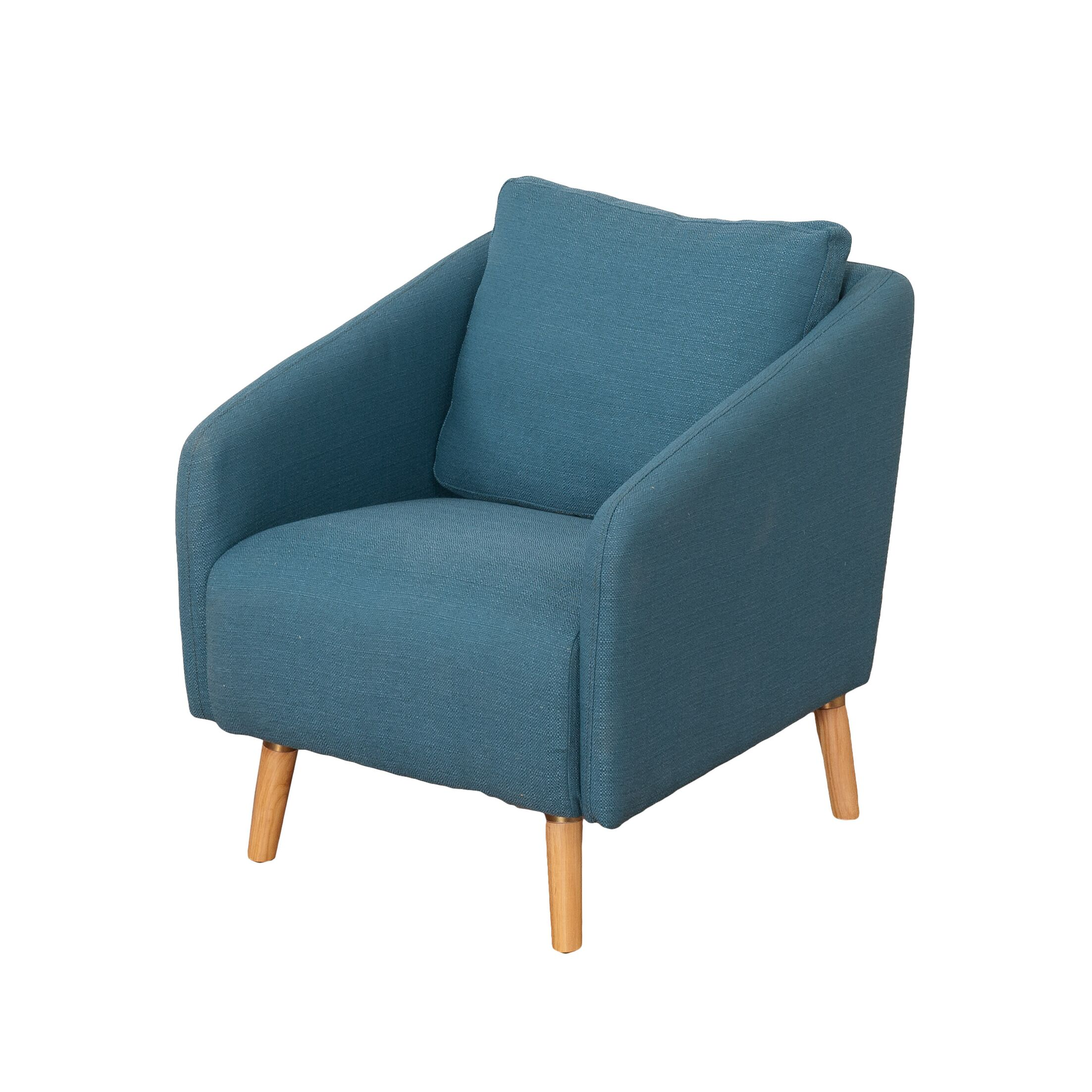 Jeremy Woven Fabric Armchair Upholstery: Blue