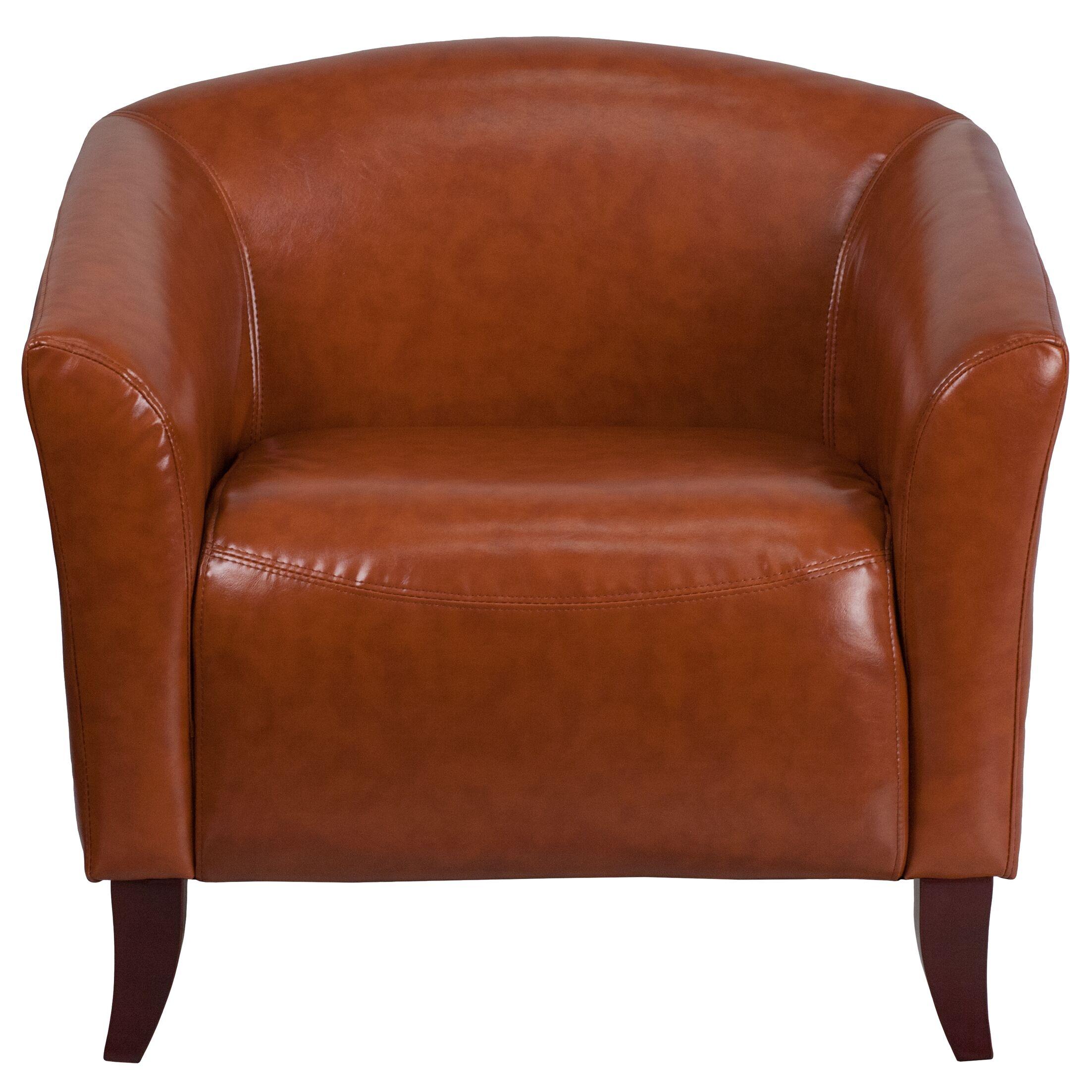 Pyron Leather Lounge Chair Seat Color: Cognac