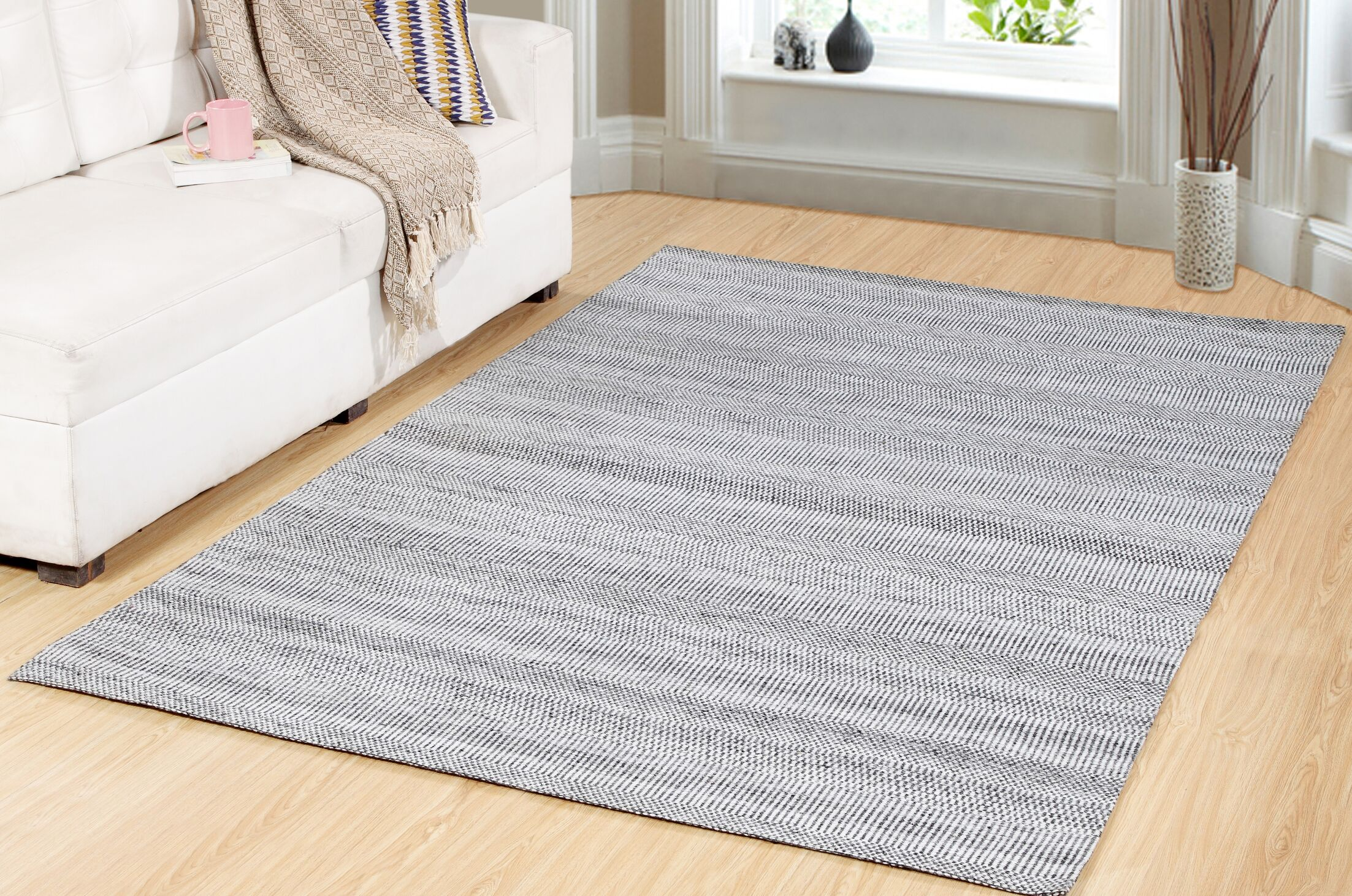 One-of-a-Kind Trance Hand-Woven Gray Area Rug Rug Size: Rectangle 2' x 7'6
