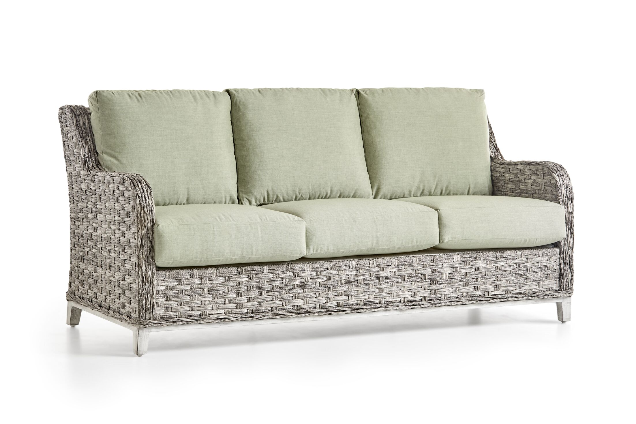 Cape Lookout Patio Sofa With Cushions Cushion Color: Canvas Crimson