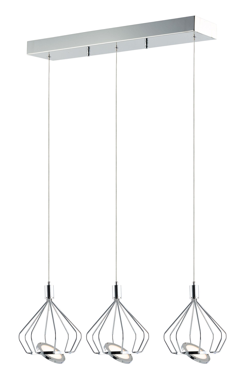 Eckman 3-Light LED Kitchen Island Pendant