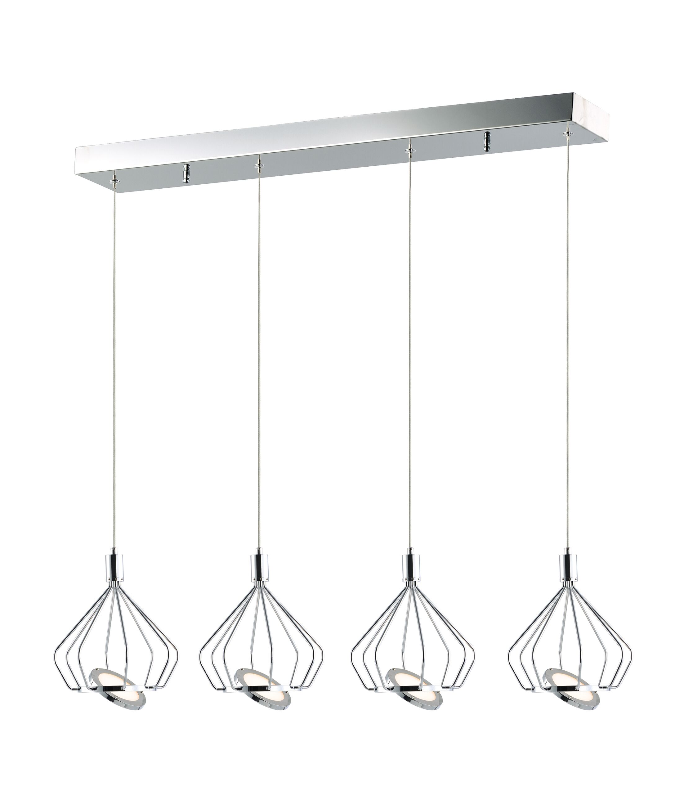 Eckman 4-Light LED Kitchen Island Pendant