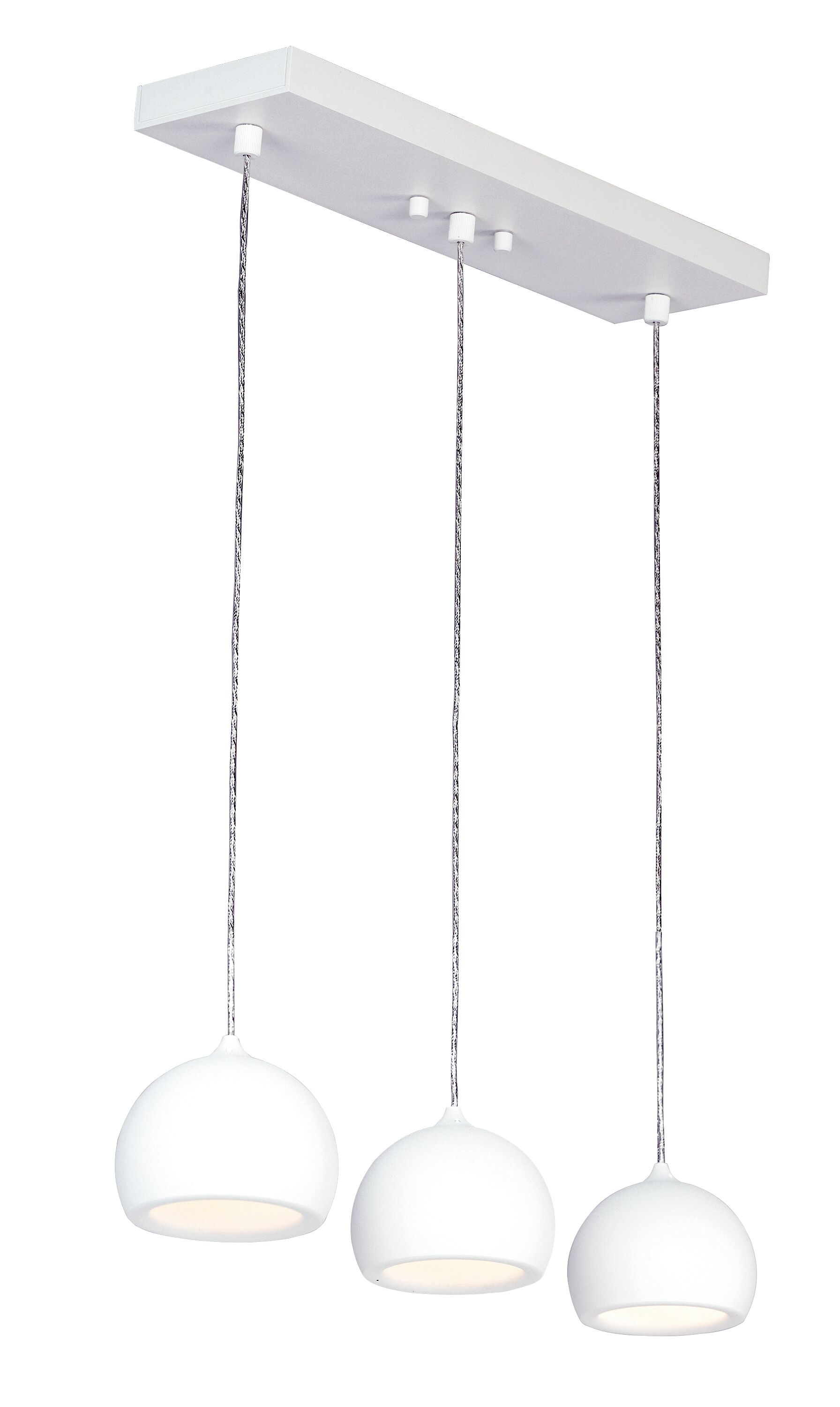 Mahpee 3-Light LED Kitchen Island Pendant