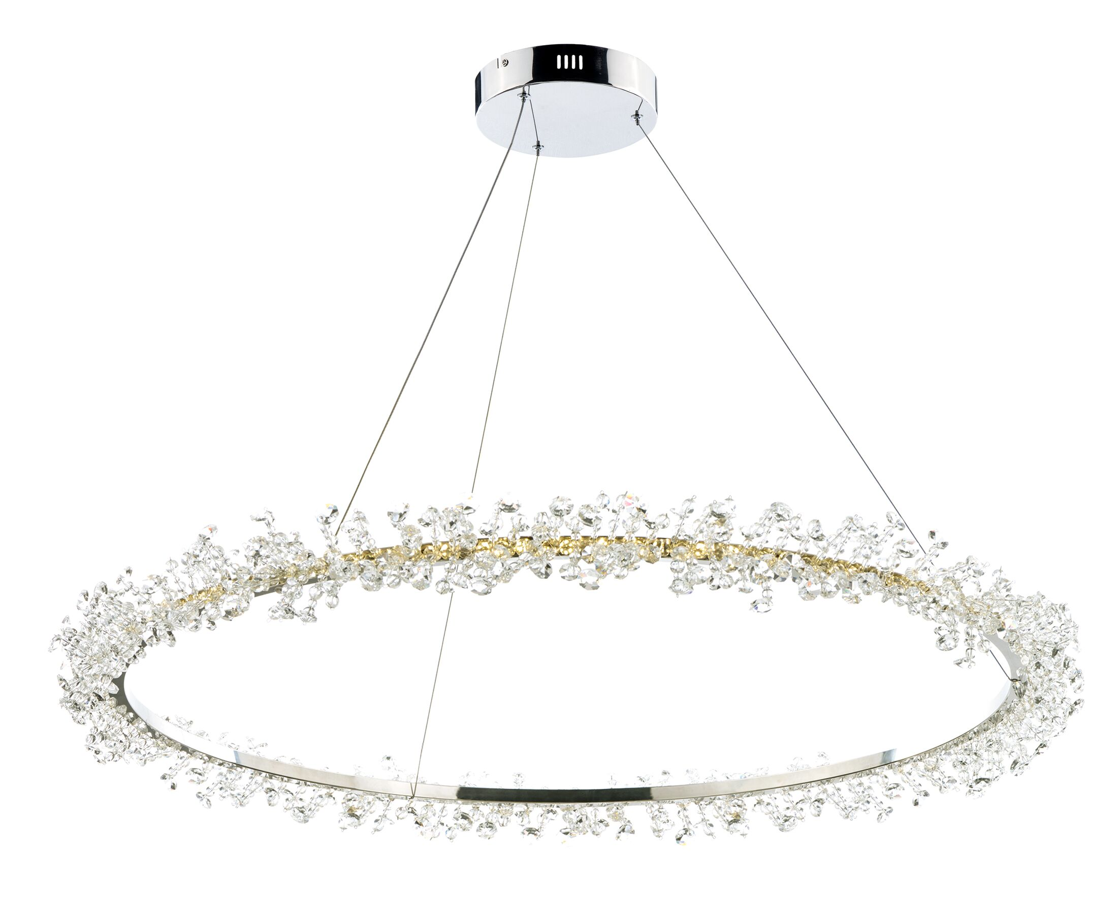 Eccles 1-Light LED Crystal Pendant Size: 3