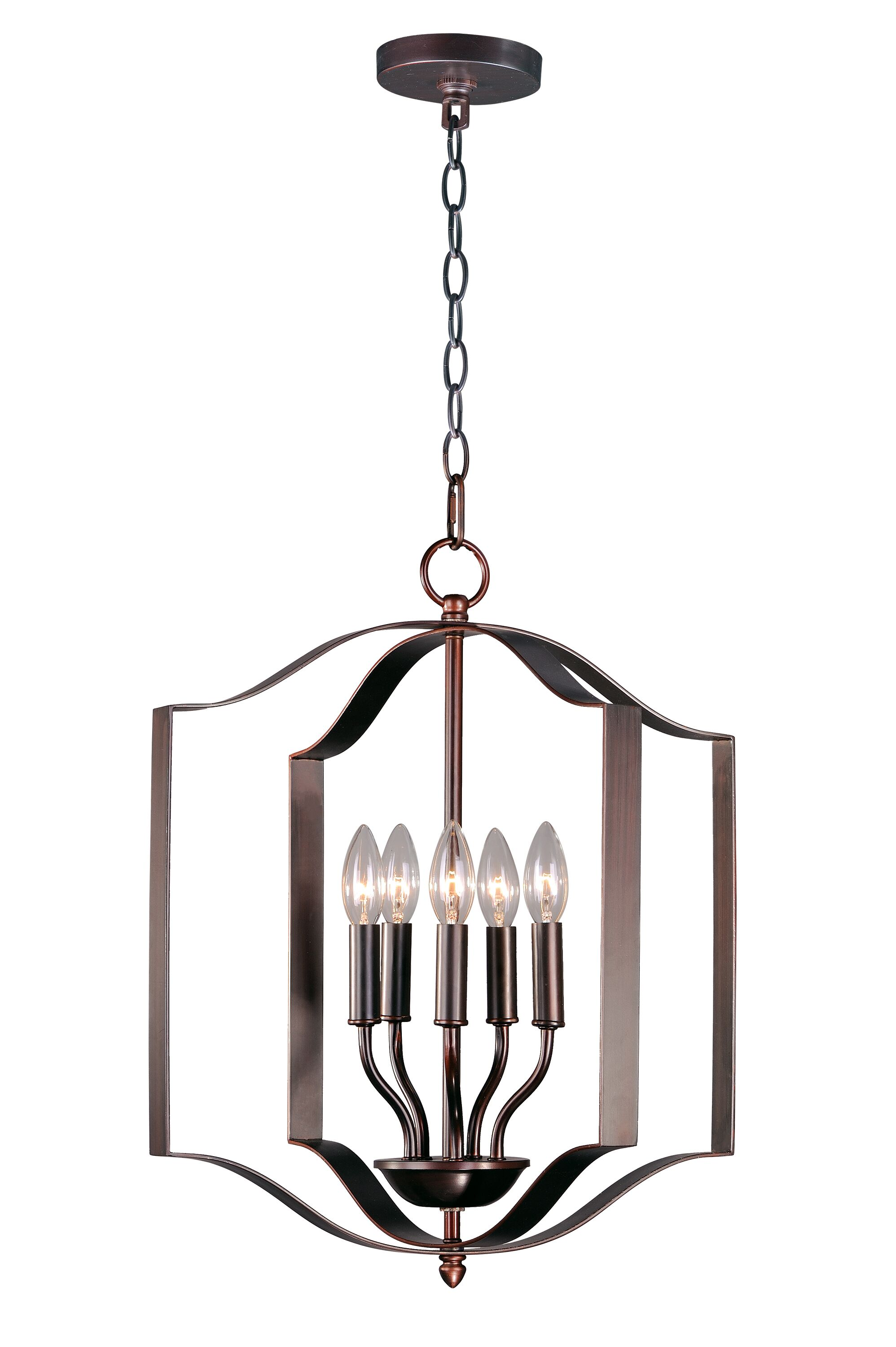 Mielke 5-Light Lantern Pendent Finish: Oil Rubbed Bronze