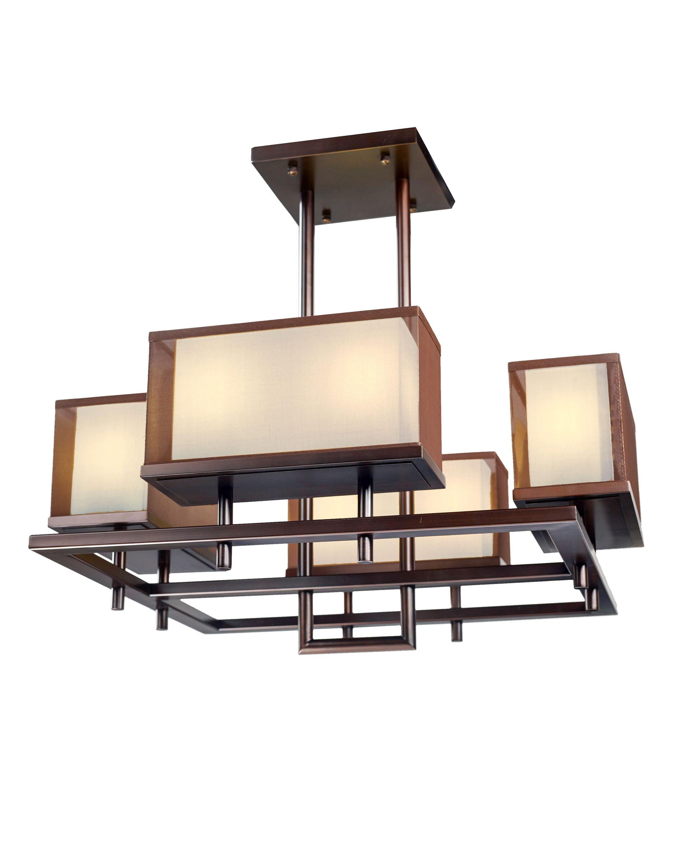 Borgman Linear 8-Light Square/Rectangle Pendant Size: 48.75