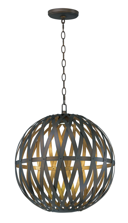 Deskins 1-Light LED Globe Pendant Size: 67.7