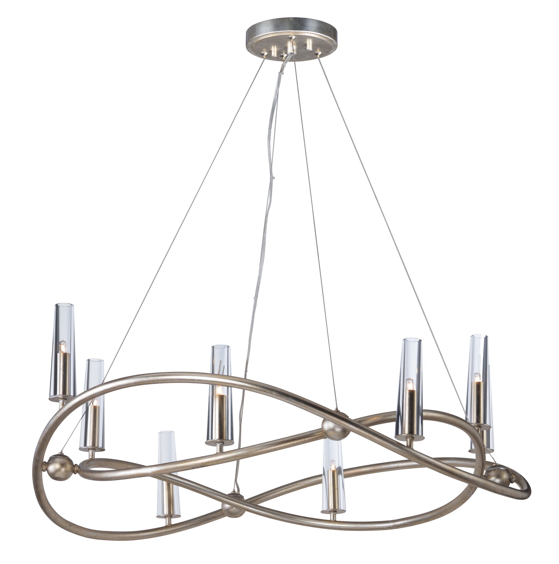 Lanigan Single Tier 8-Light Candle Style Chandelier