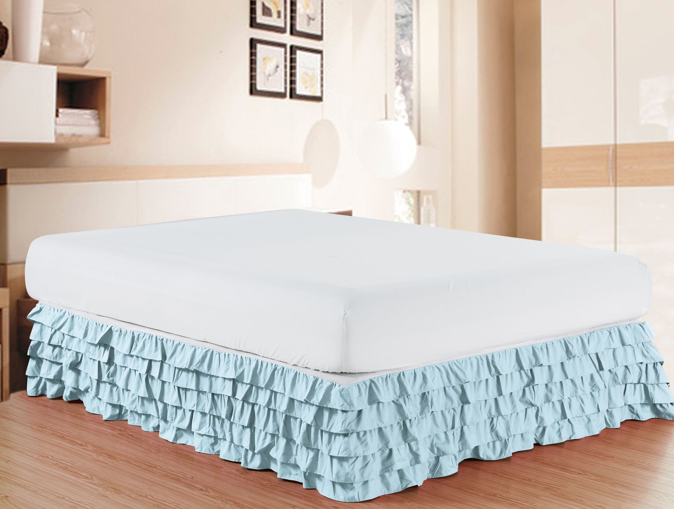 Letson Luxurious Premium Quality 1500 Thread Count Bed Skirt Size: California King, Color: Cream